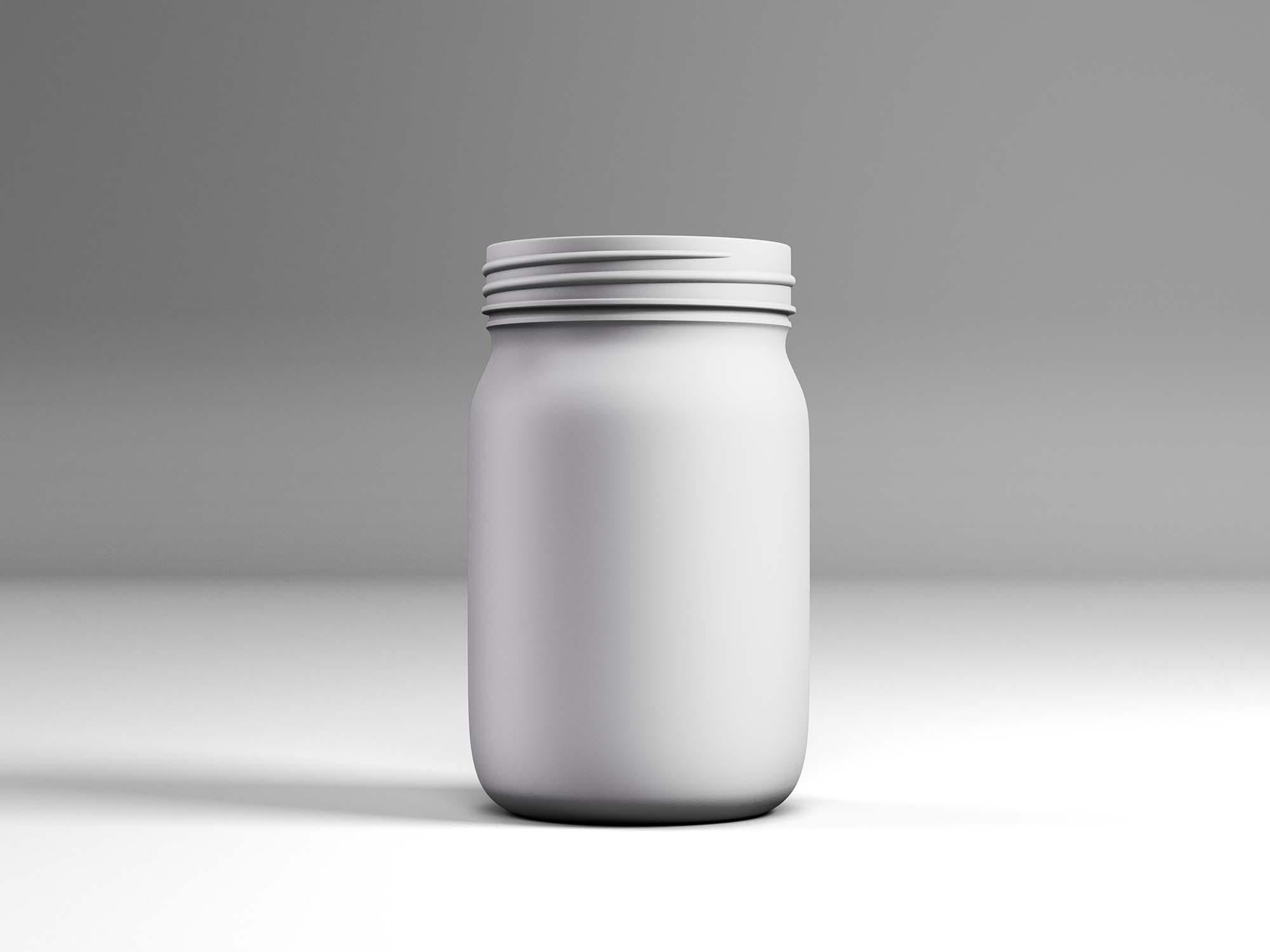 Plastic Matt Jar Mockup 2