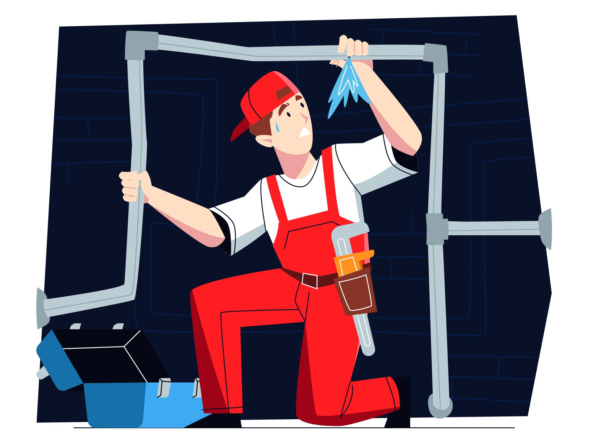 Plumber Vector Illustration