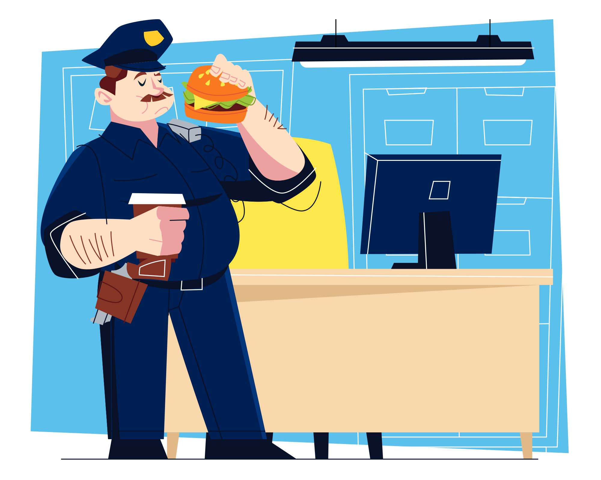 Police Officer Vector Illustration