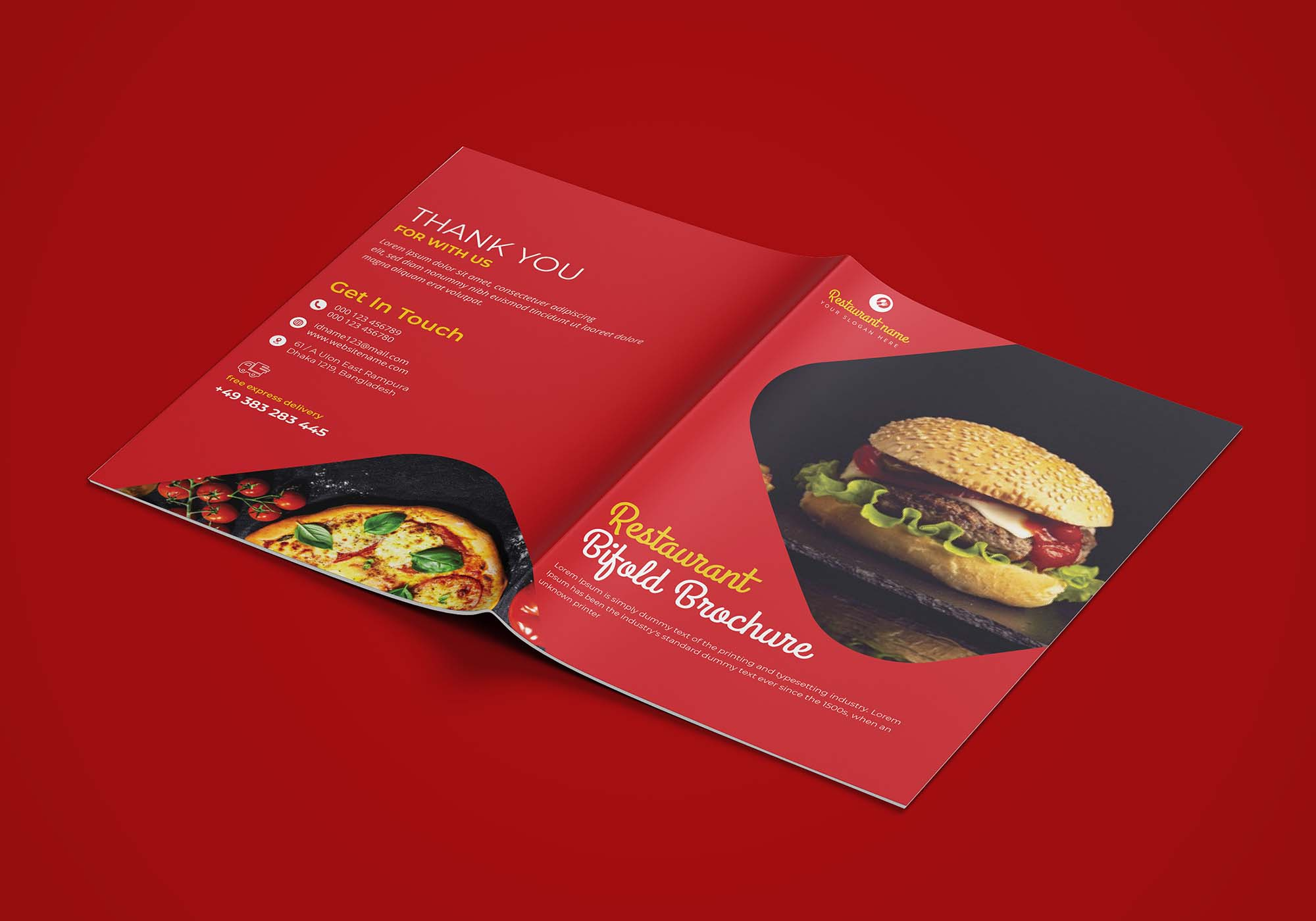Restaurant Bifold Brochure Template 2