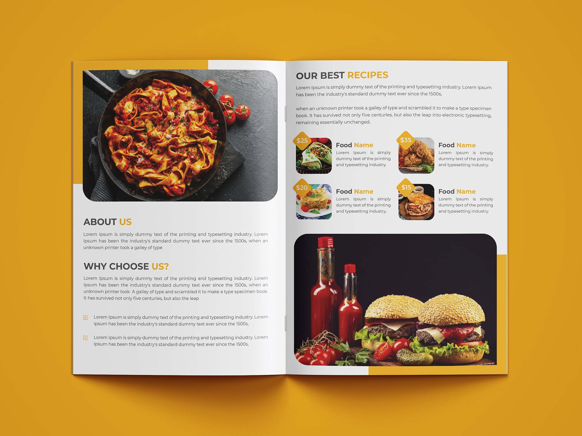 Restaurant Bifold Brochure Template 4