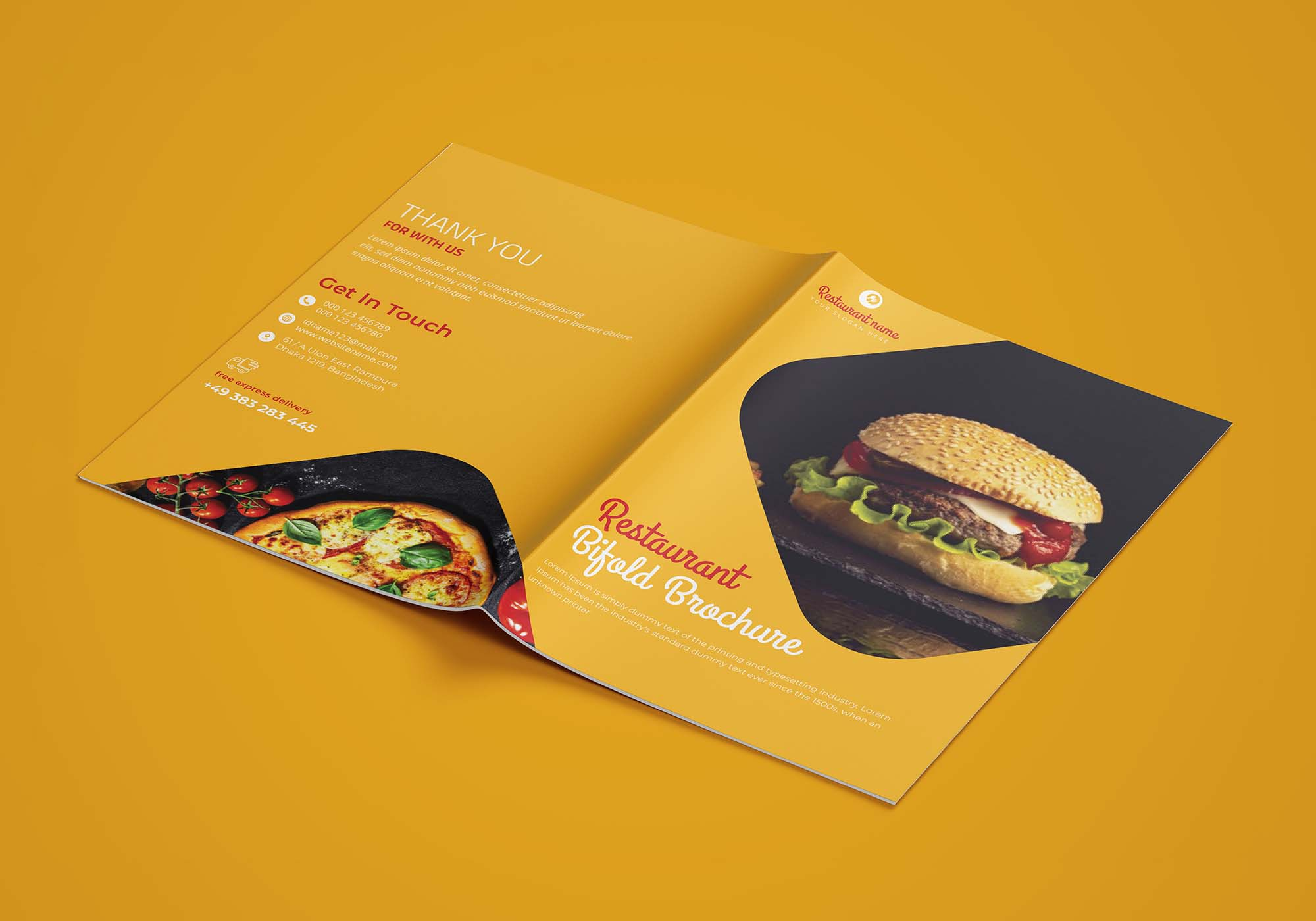 Restaurant Bifold Brochure Template 5