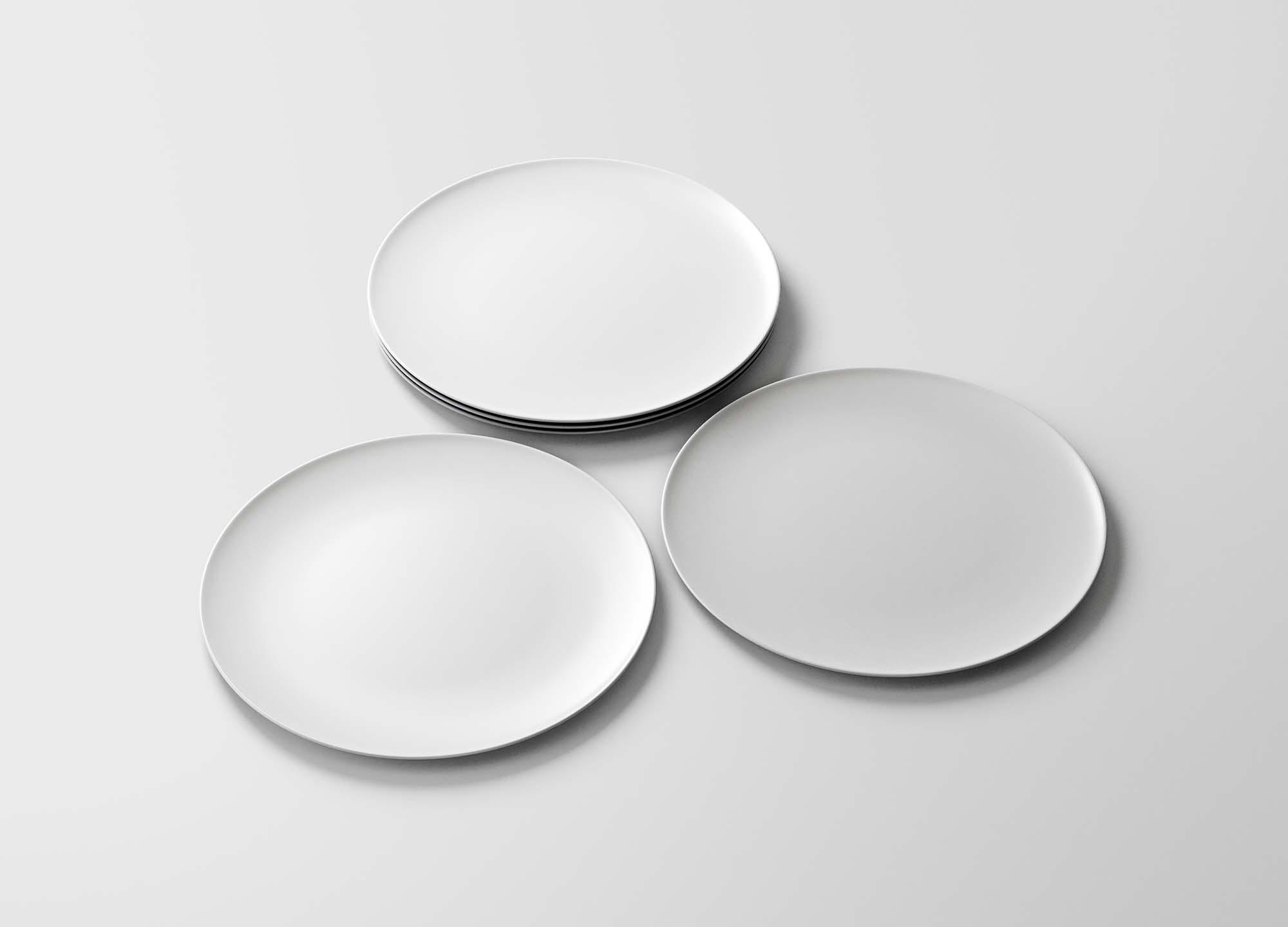 Round Dishes Mockup 2