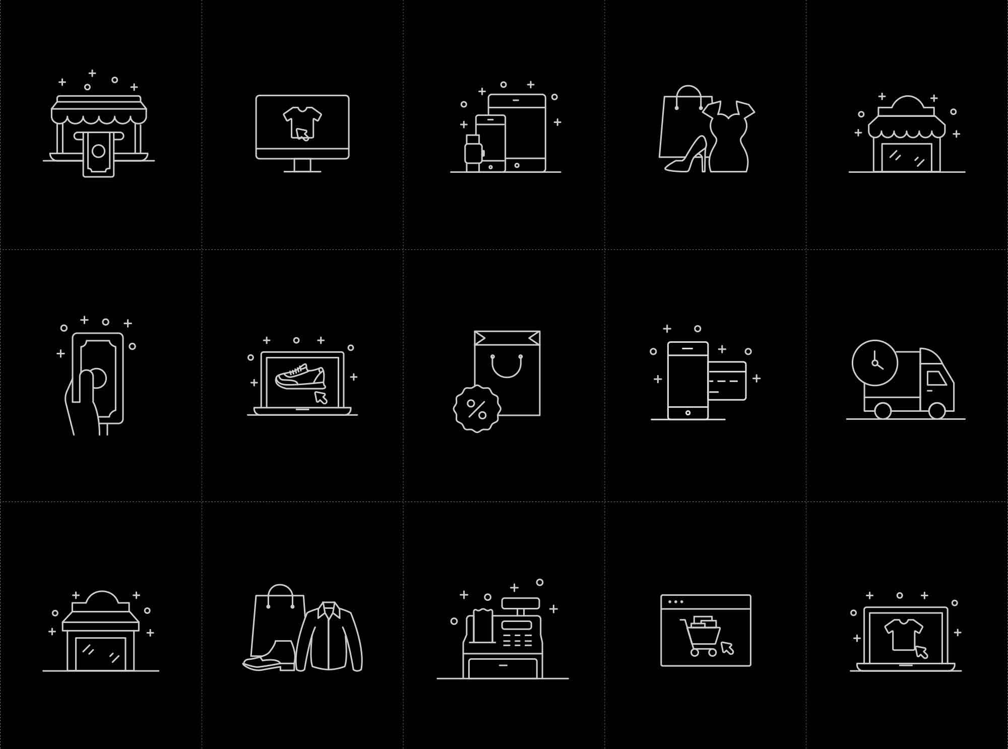 Shopping and E-commerce Vector Icons 2