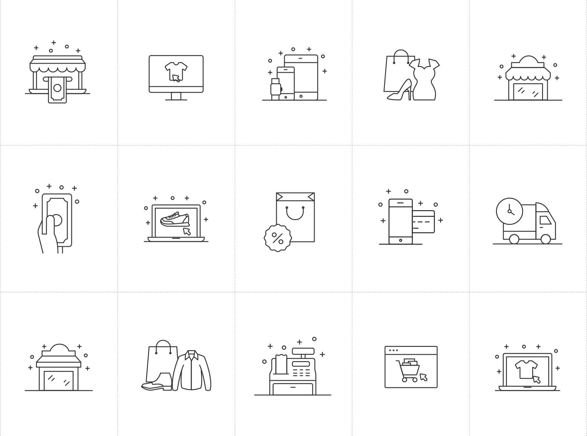 Shopping and E-commerce Vector Icons
