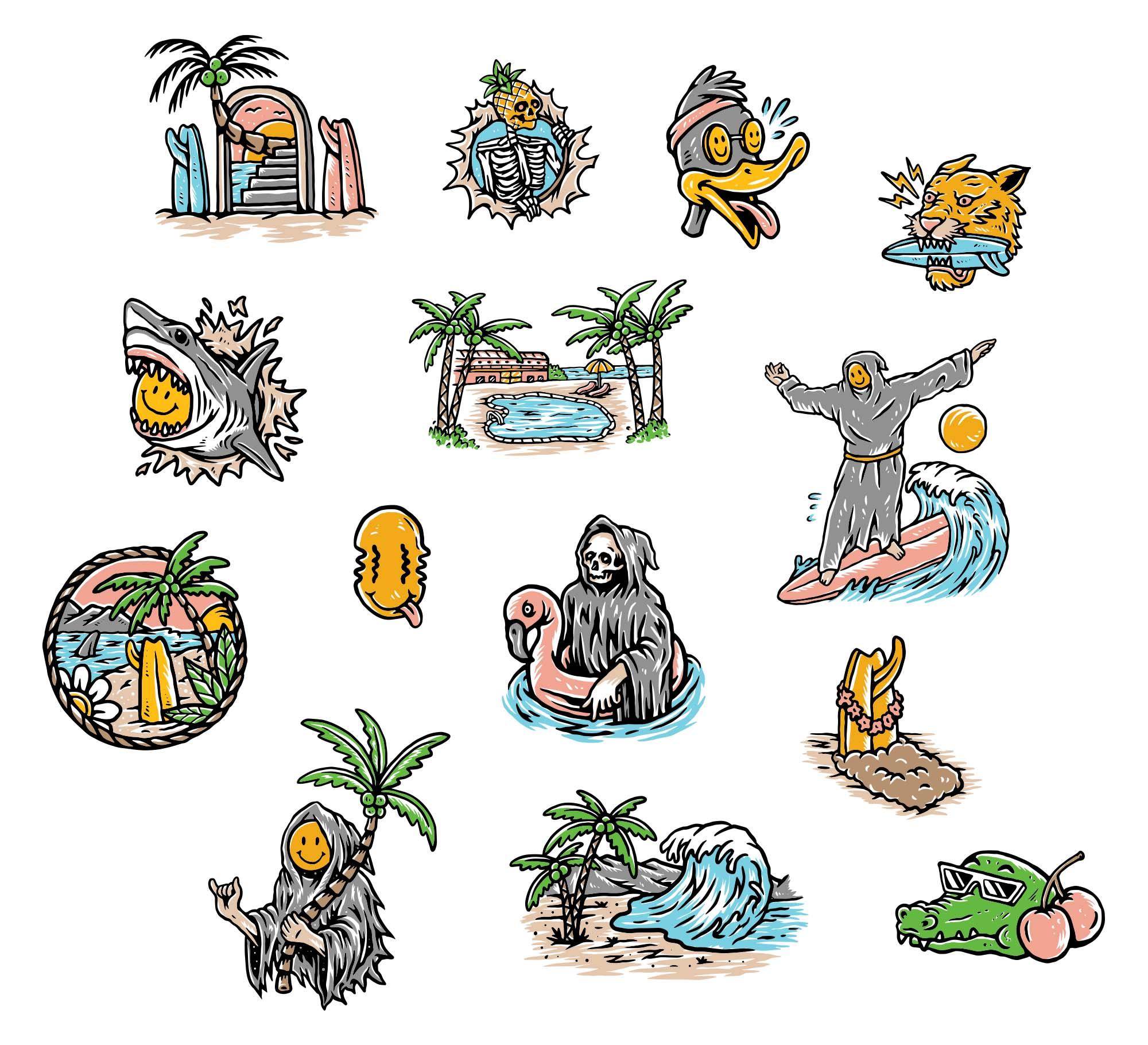 Summer Punch Illustrations 2