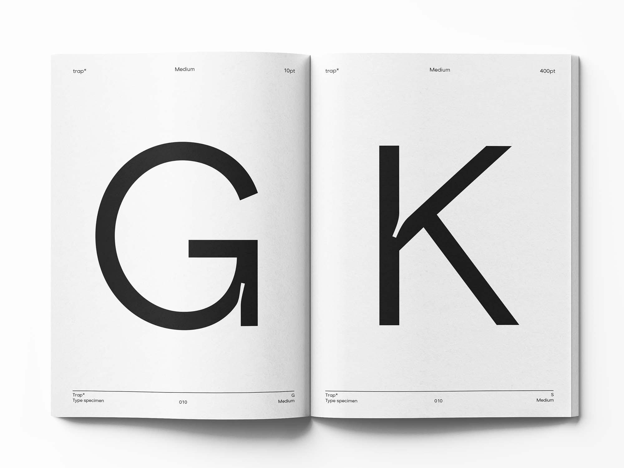 Trap Sans Serif Typeface 6