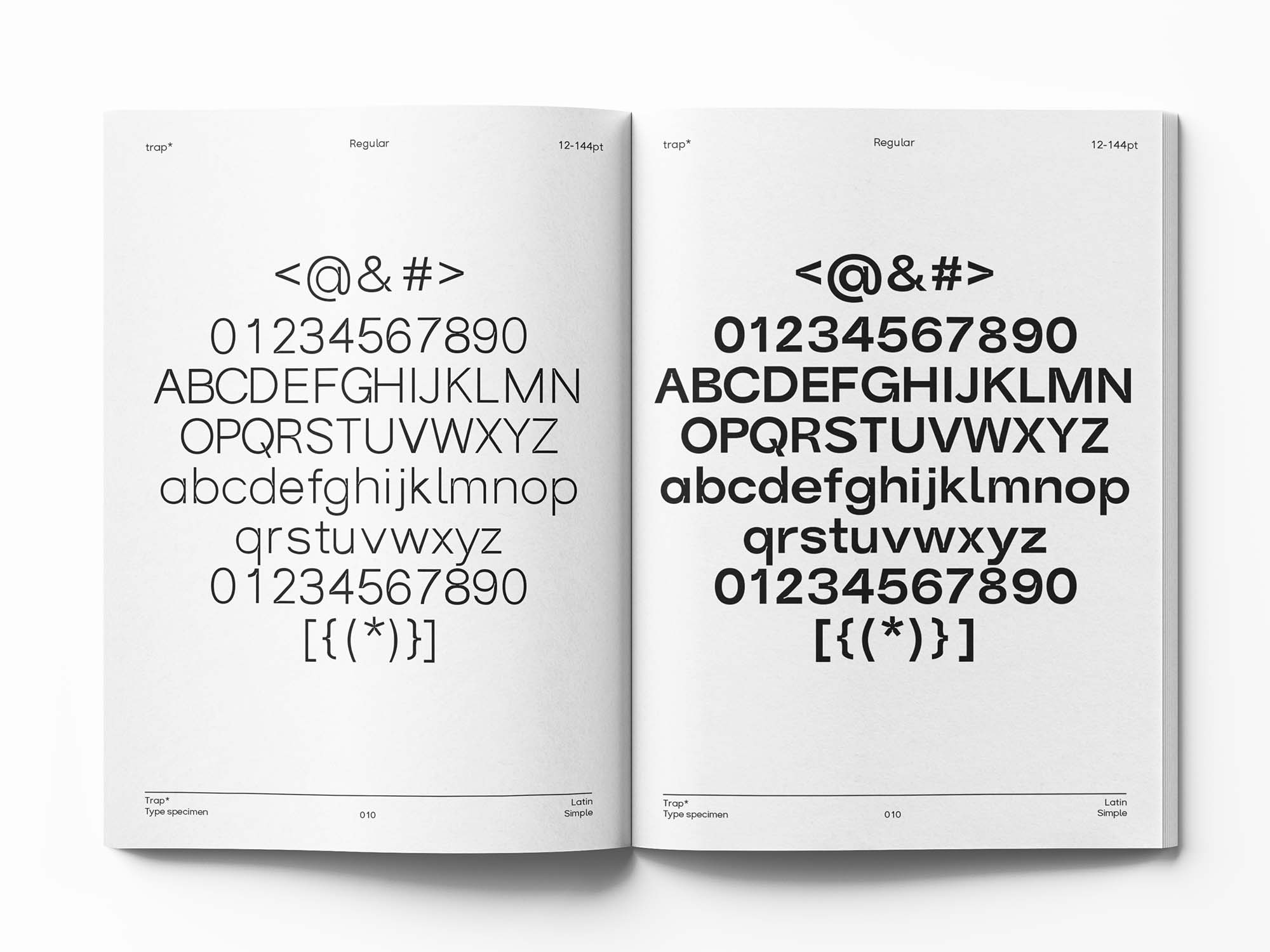 Trap Sans Serif Typeface 8