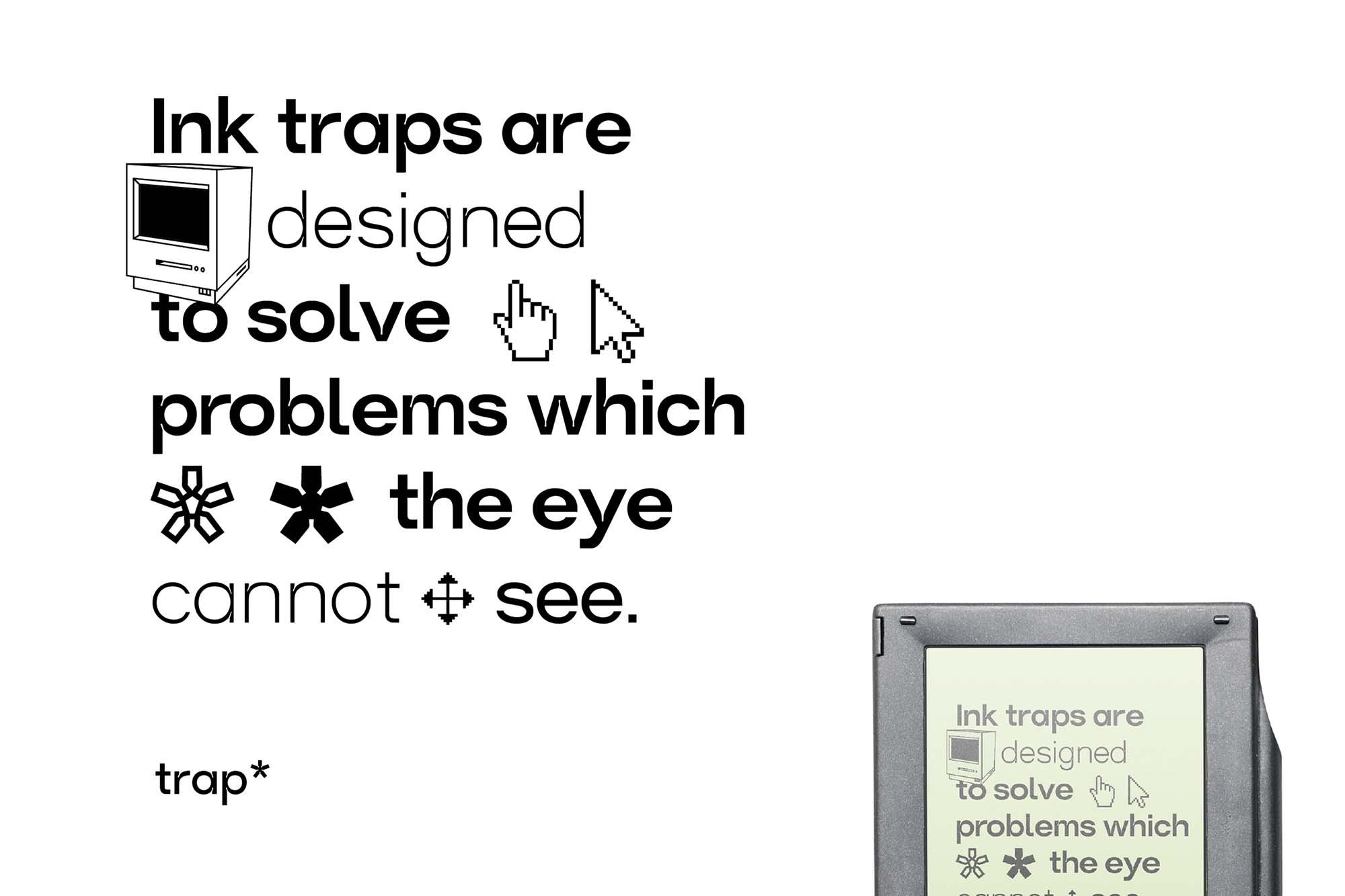 Trap Sans Serif Typeface 9