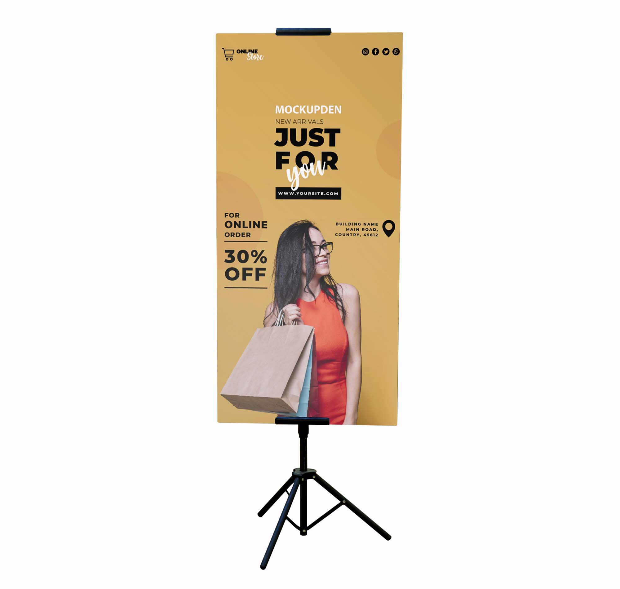 Tripod Stand Banner Mockup