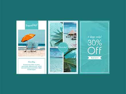 Vacation Instagram Story Templates