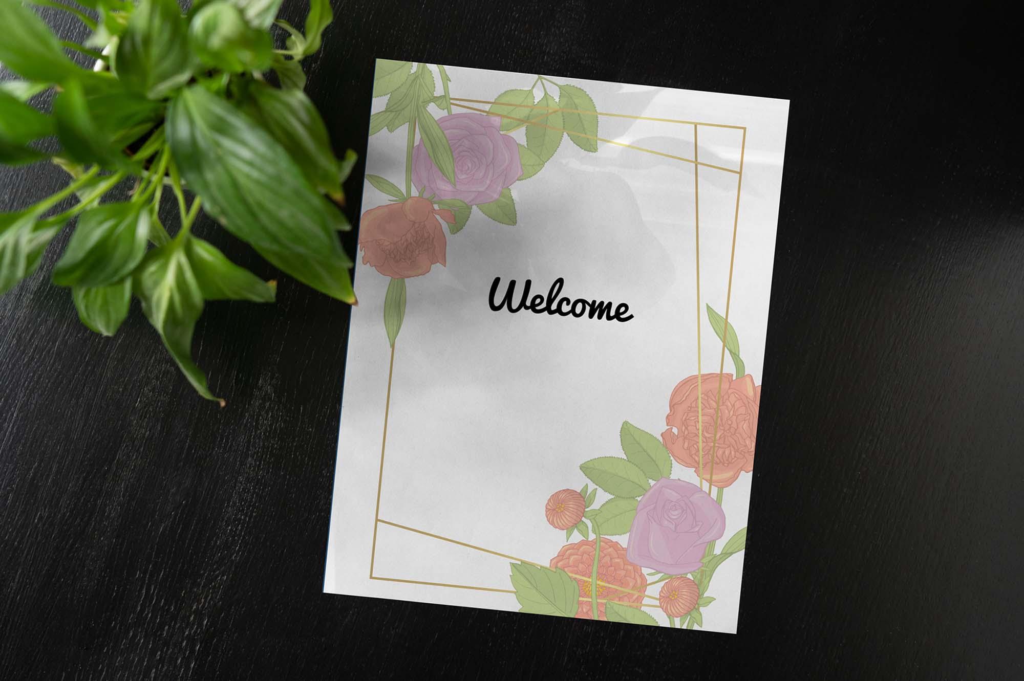 Wedding Card Mockup 3