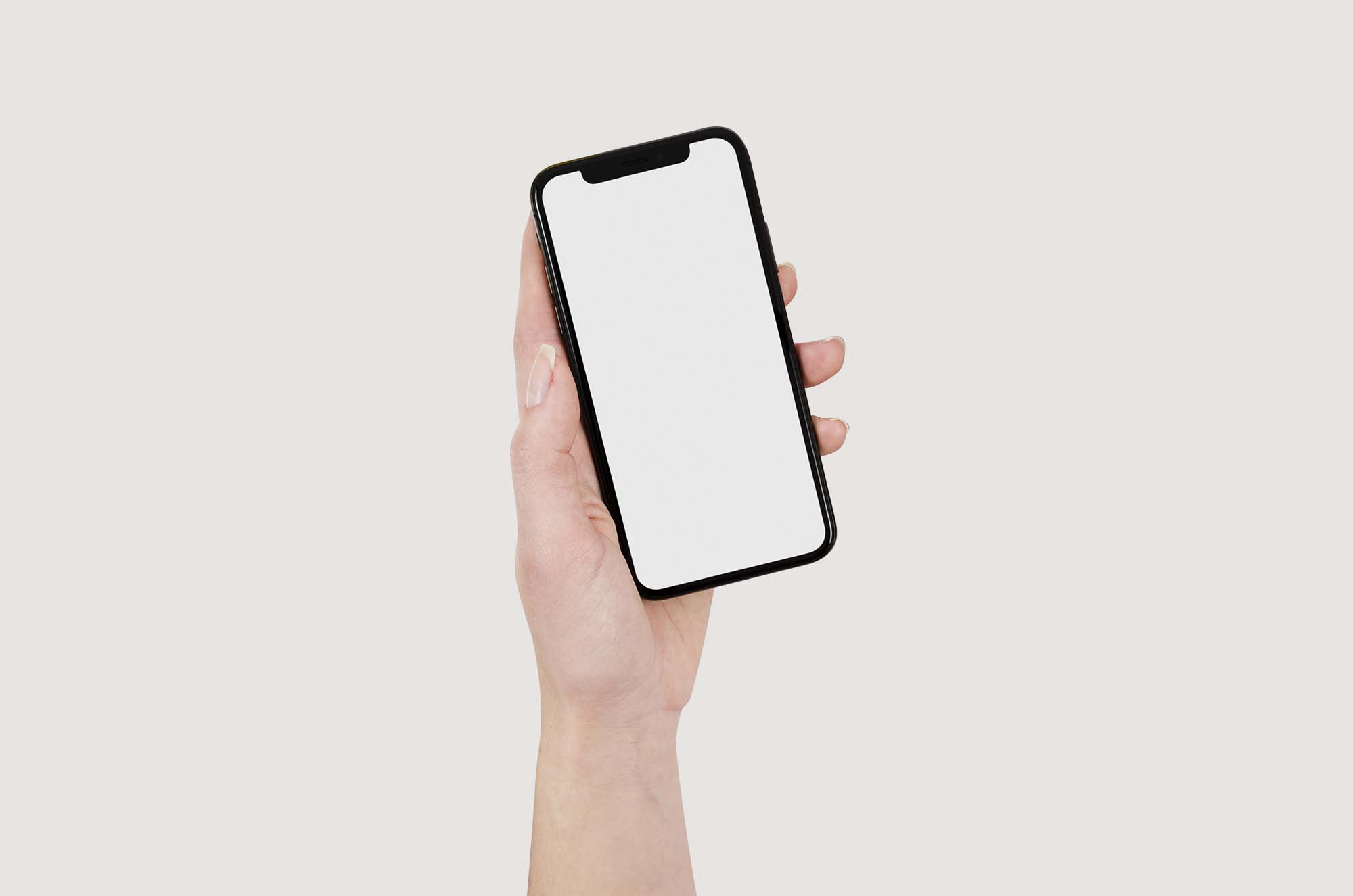 iPhone X Mockup in Hand 2