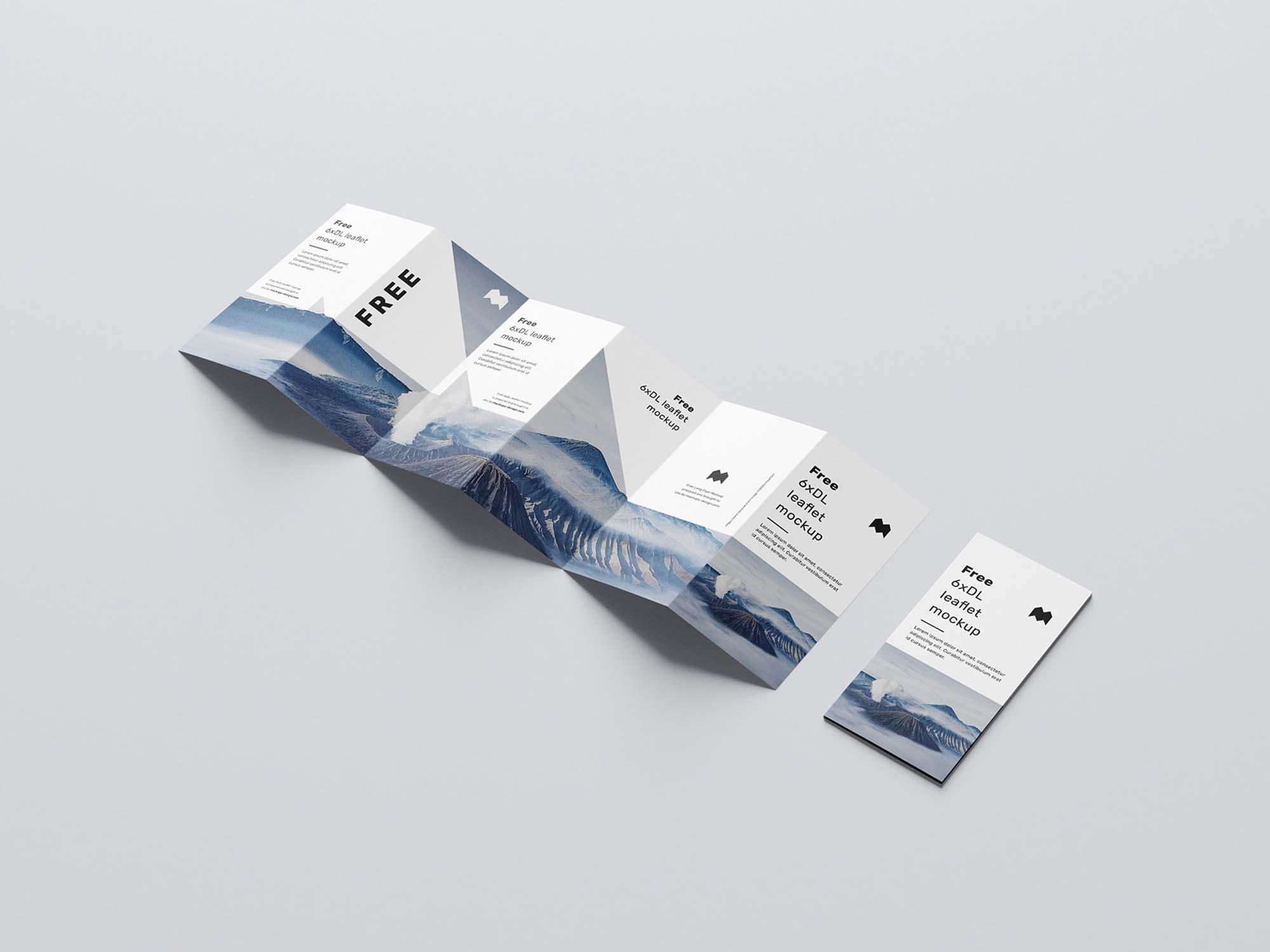 6 Fold DL Leaflet Mockup 1