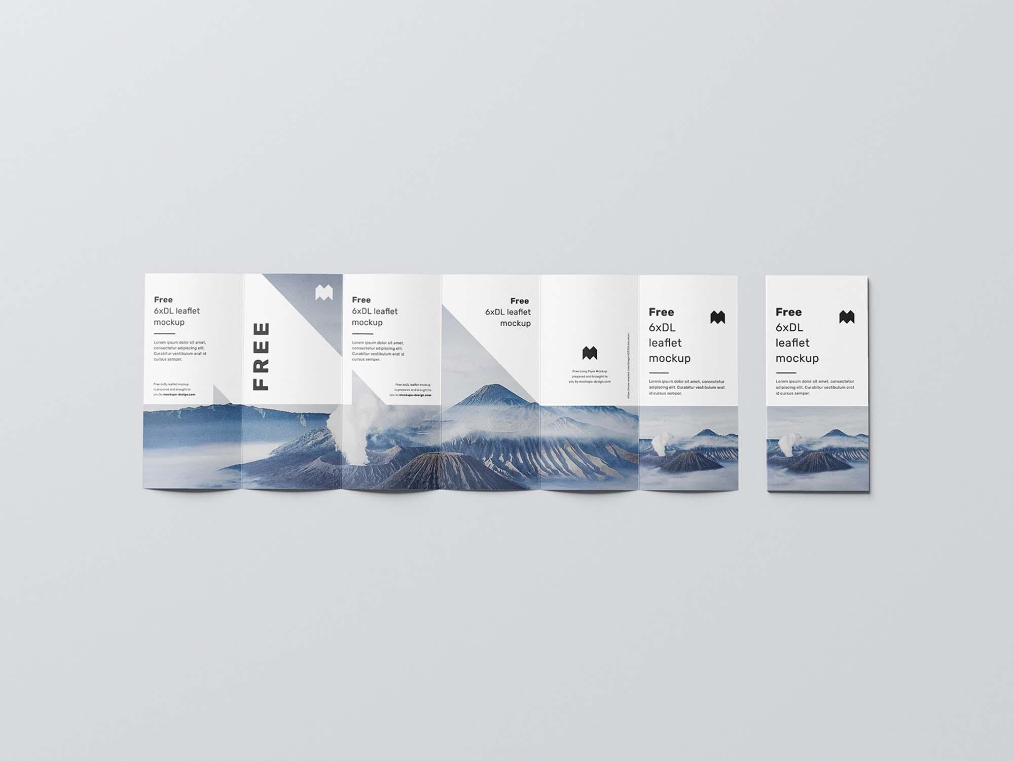 6 Fold DL Leaflet Mockup 2