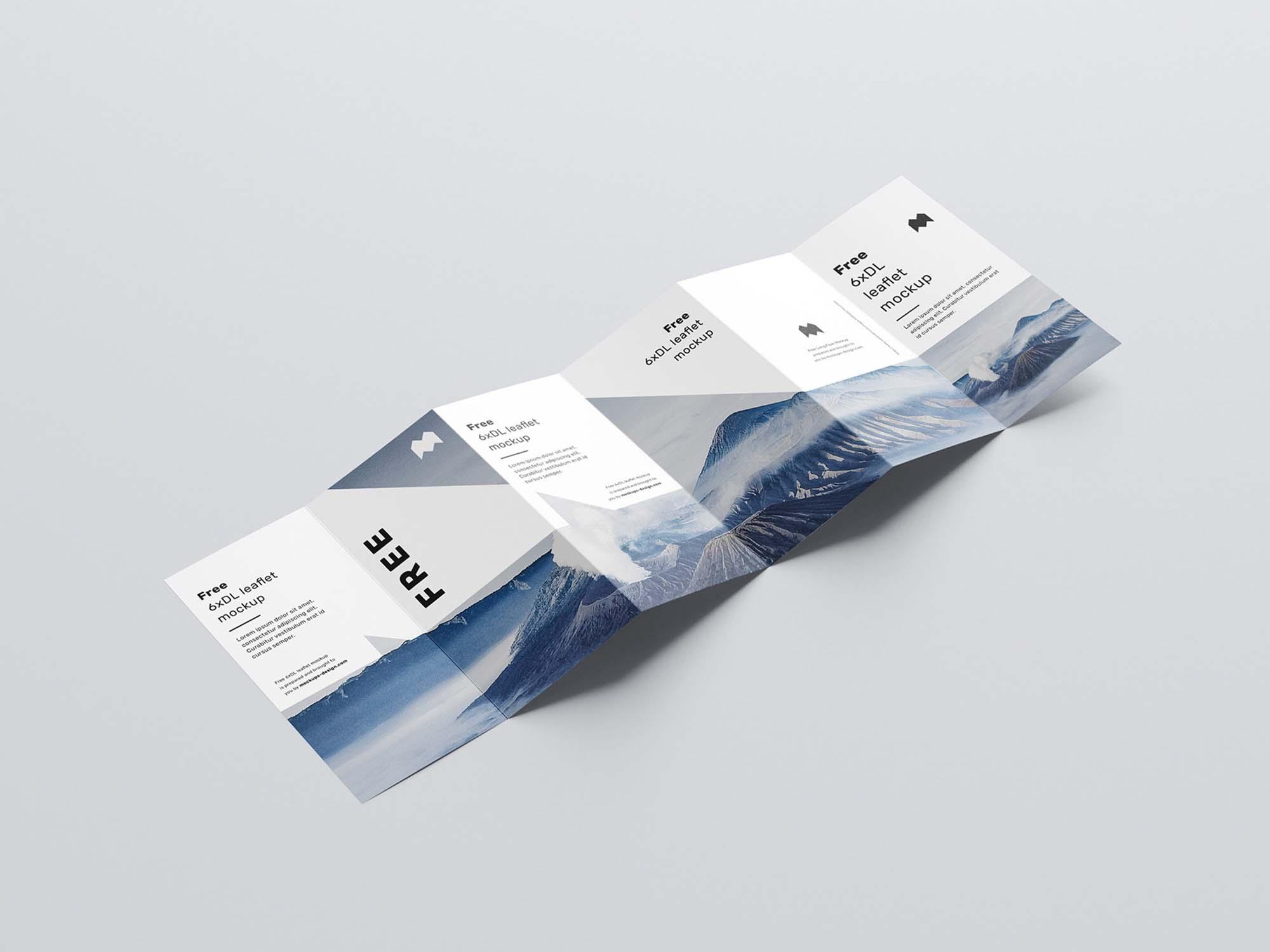 6 Fold DL Leaflet Mockup 3