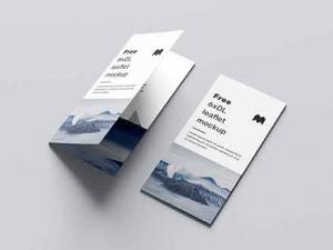 Free 6 Fold DL Leaflet Mockup (PSD)