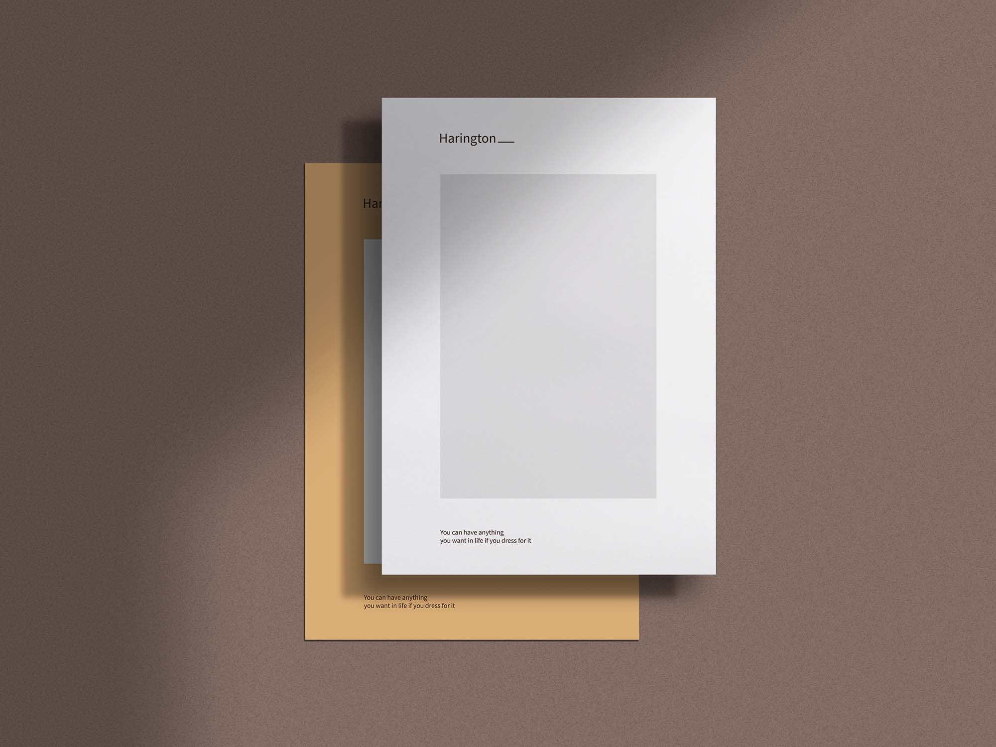 A4 Paper with Shadow Overlay Mockup 2