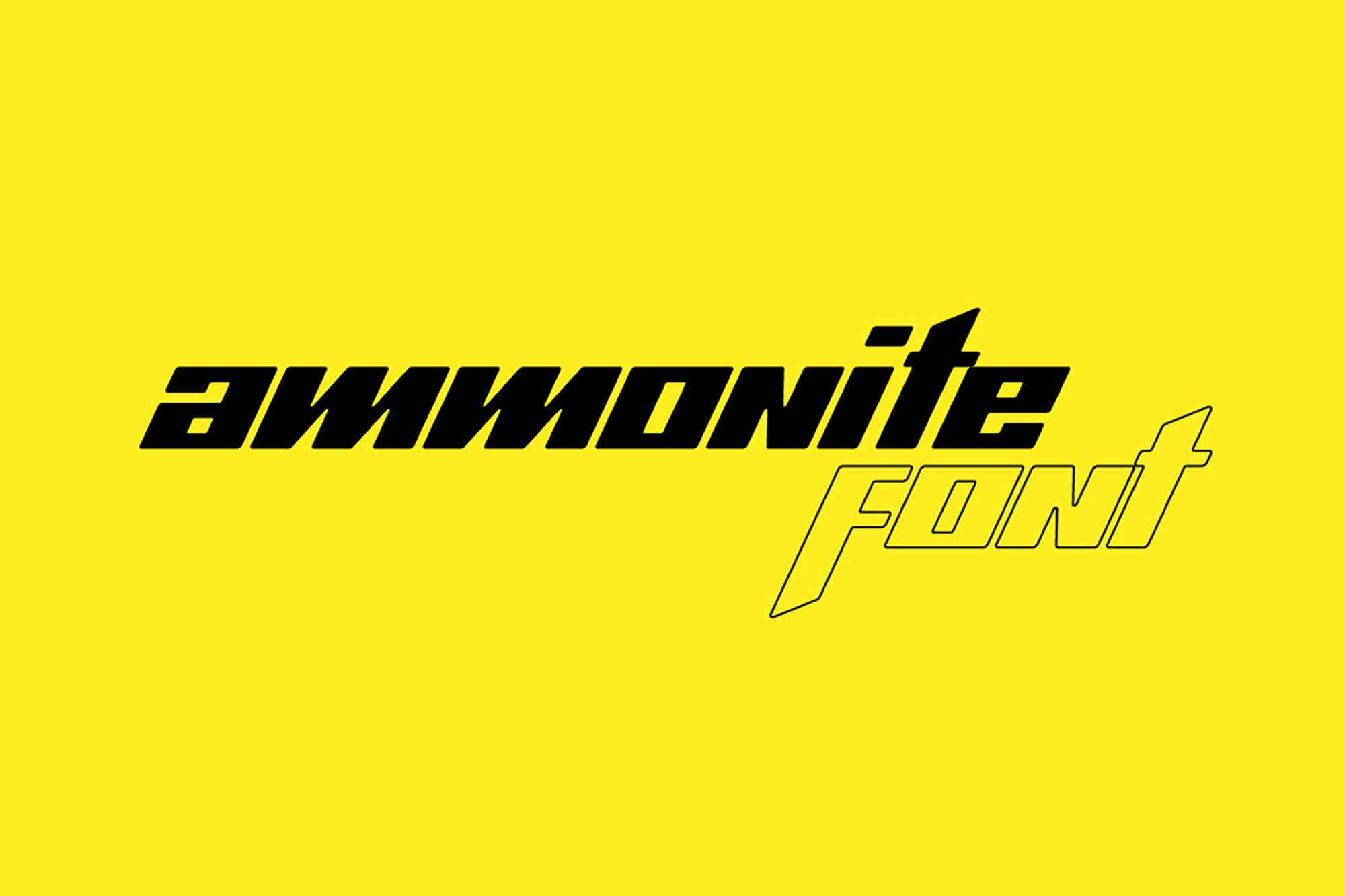 Ammonite Display Font