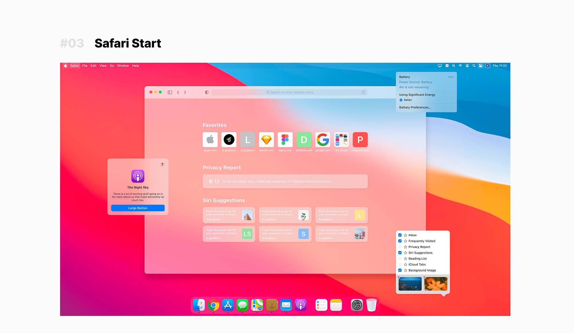 Big Sur UI Kit 6