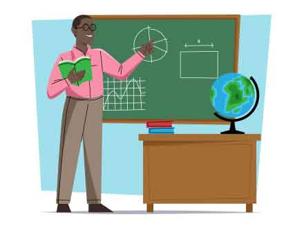 Black Male Teacher Illustration