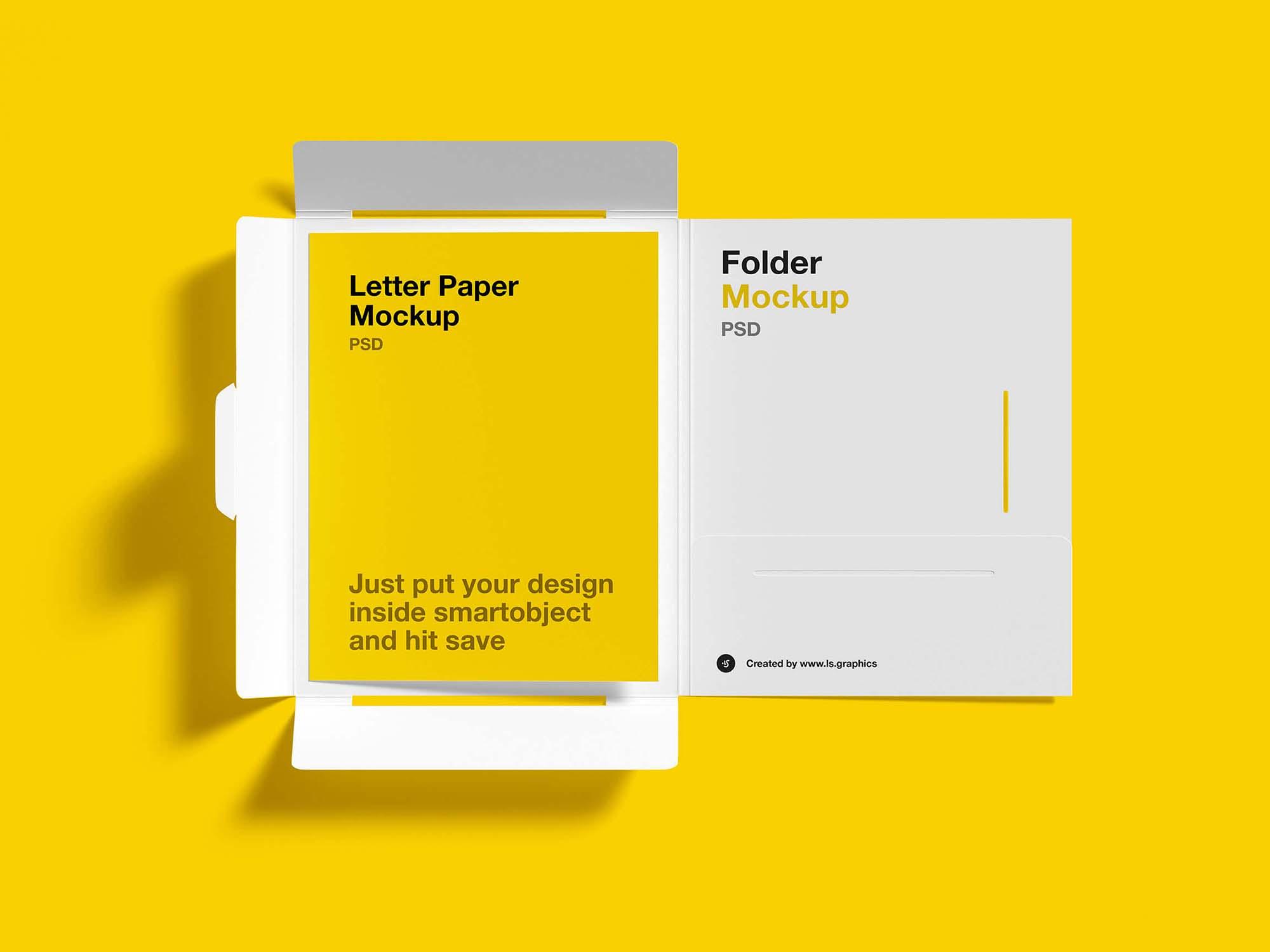 Brochure Folder Letter Mockup