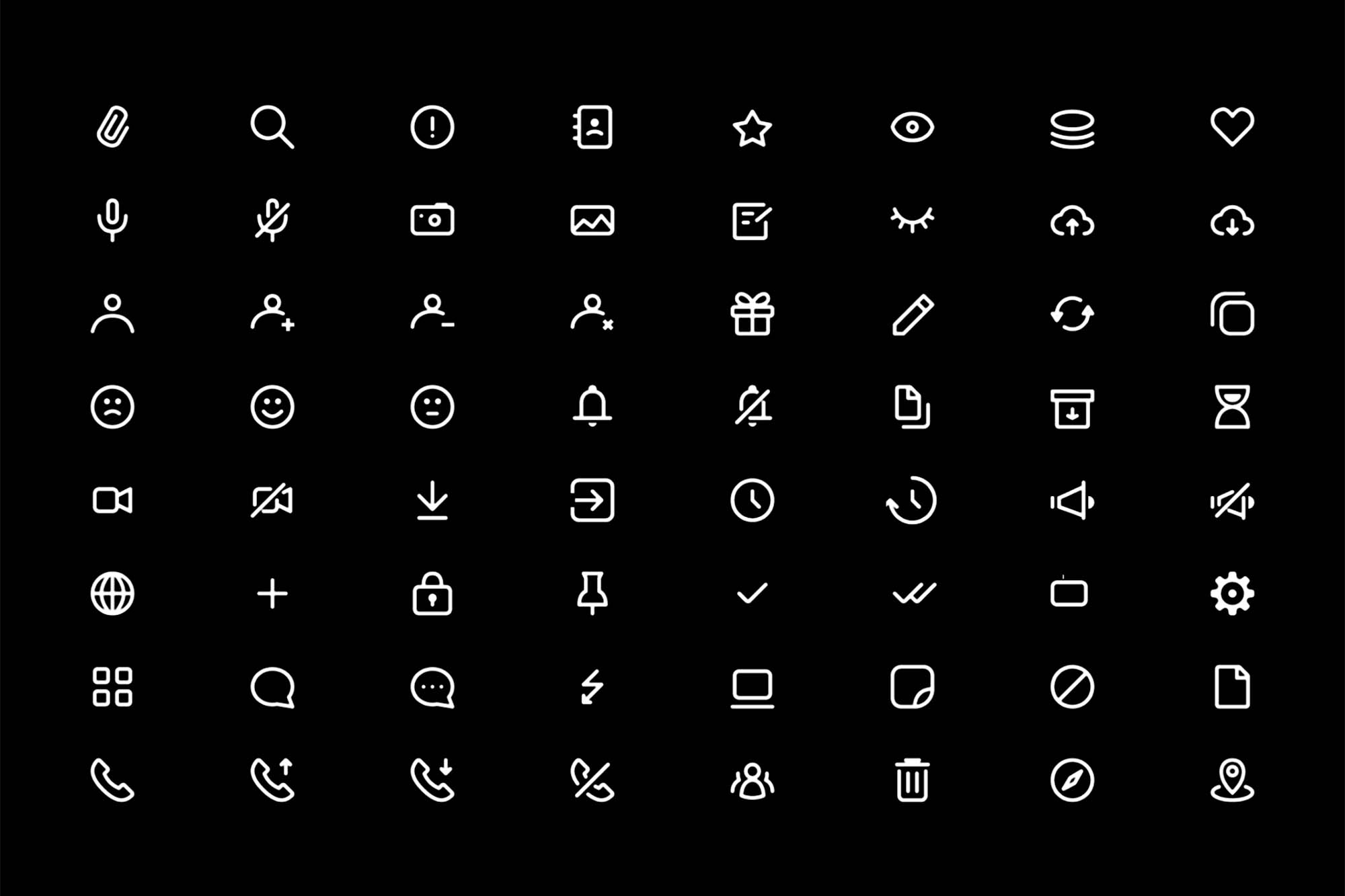 Chat and Messenger Icons 2