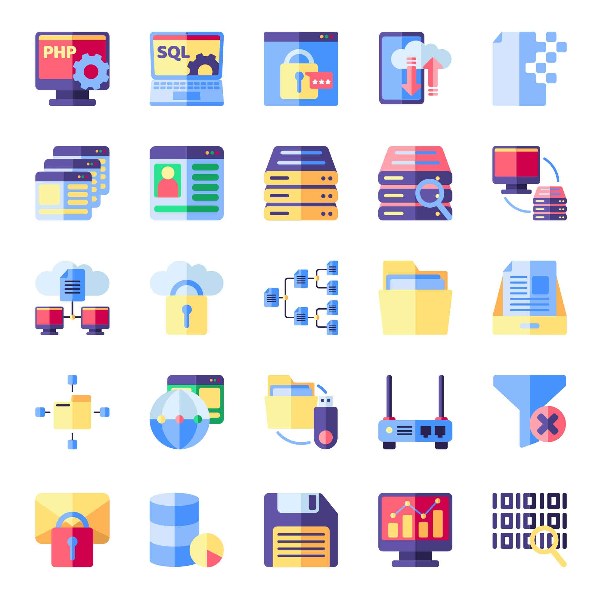 Database Vector Icons