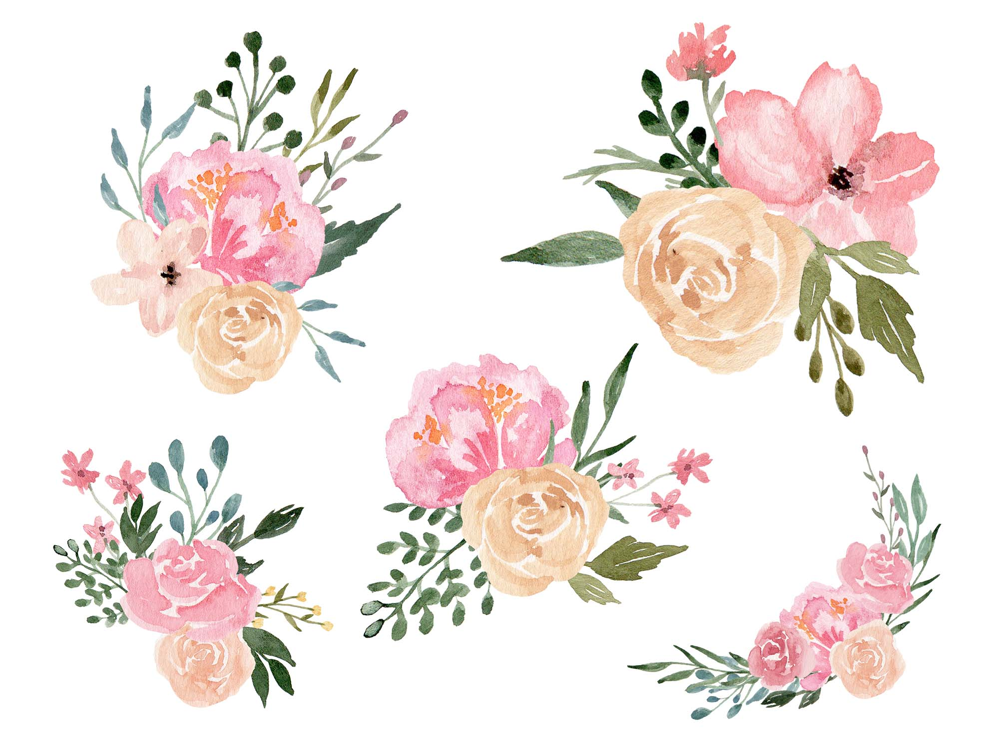 Dusty Blooms Floral Design 3