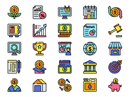 Economics Vector Icons