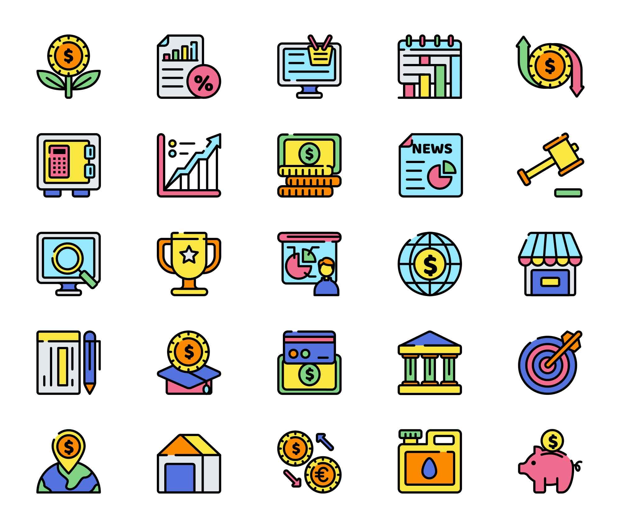 Economics Vector Icons