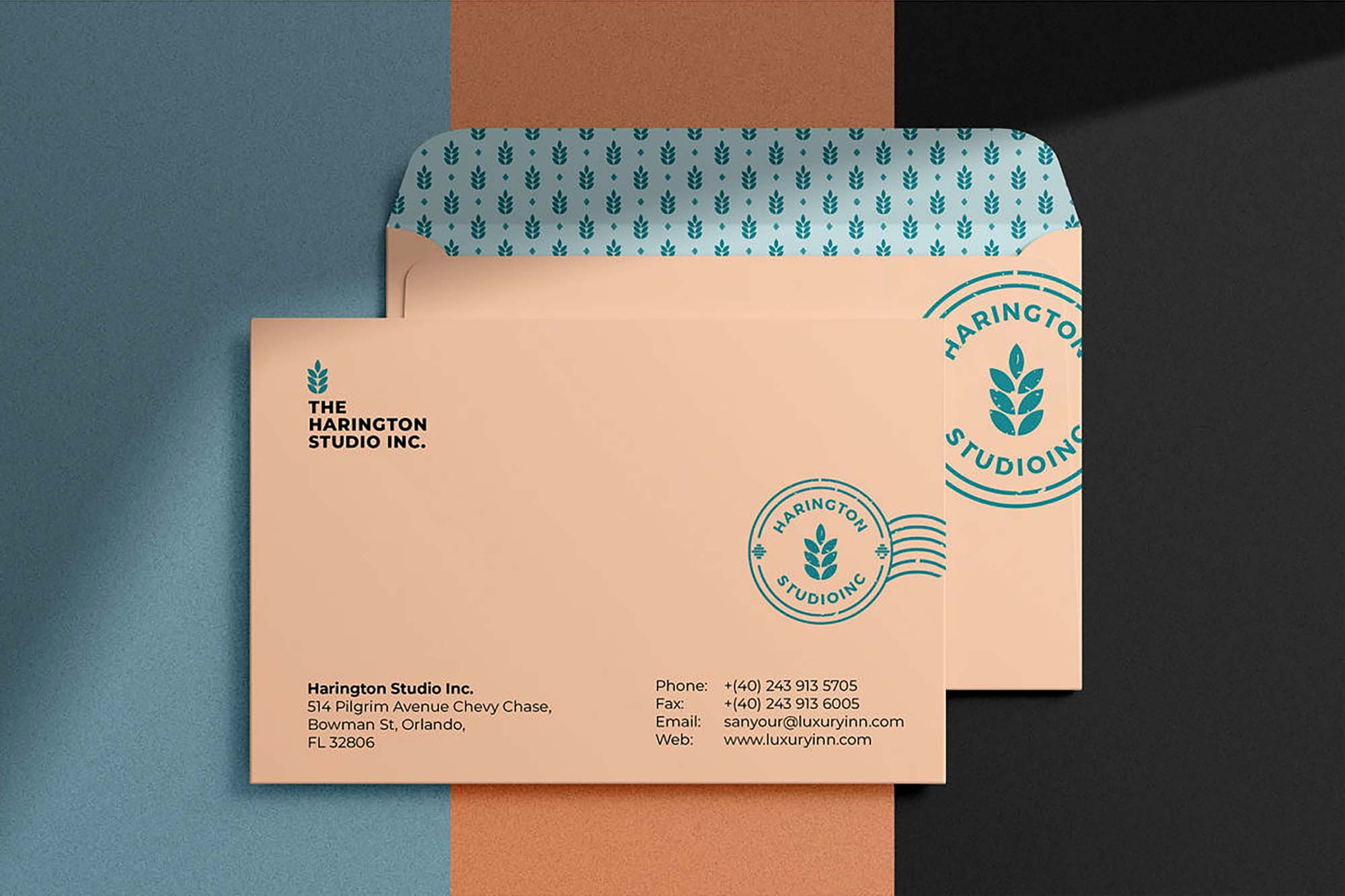 Shadow Overlay Envelope Mockup 3