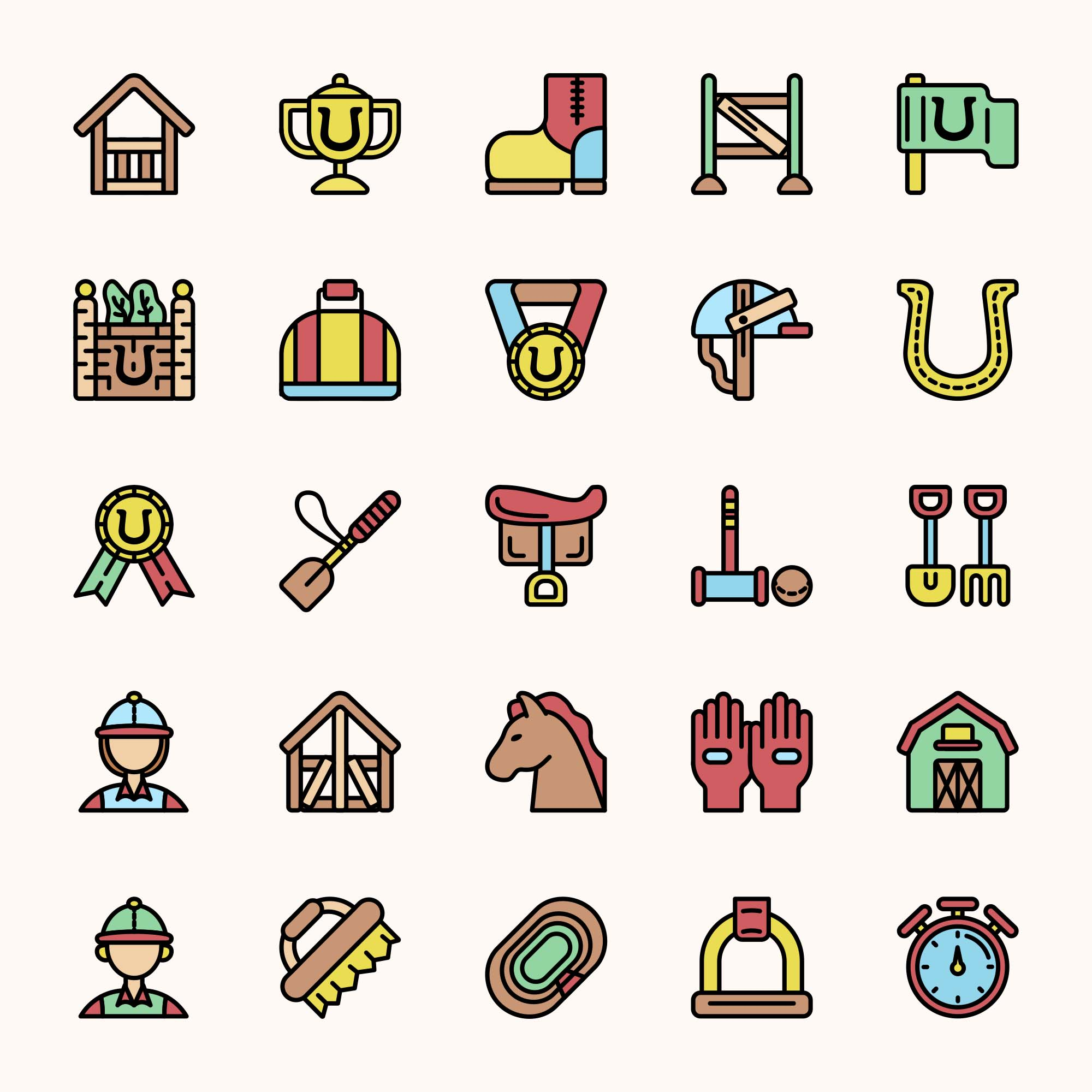 Equestrian Vector Icons