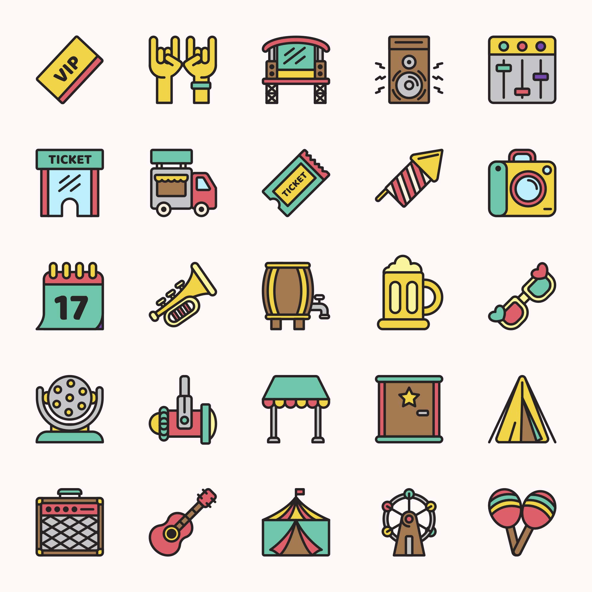 Festival Vector Icons