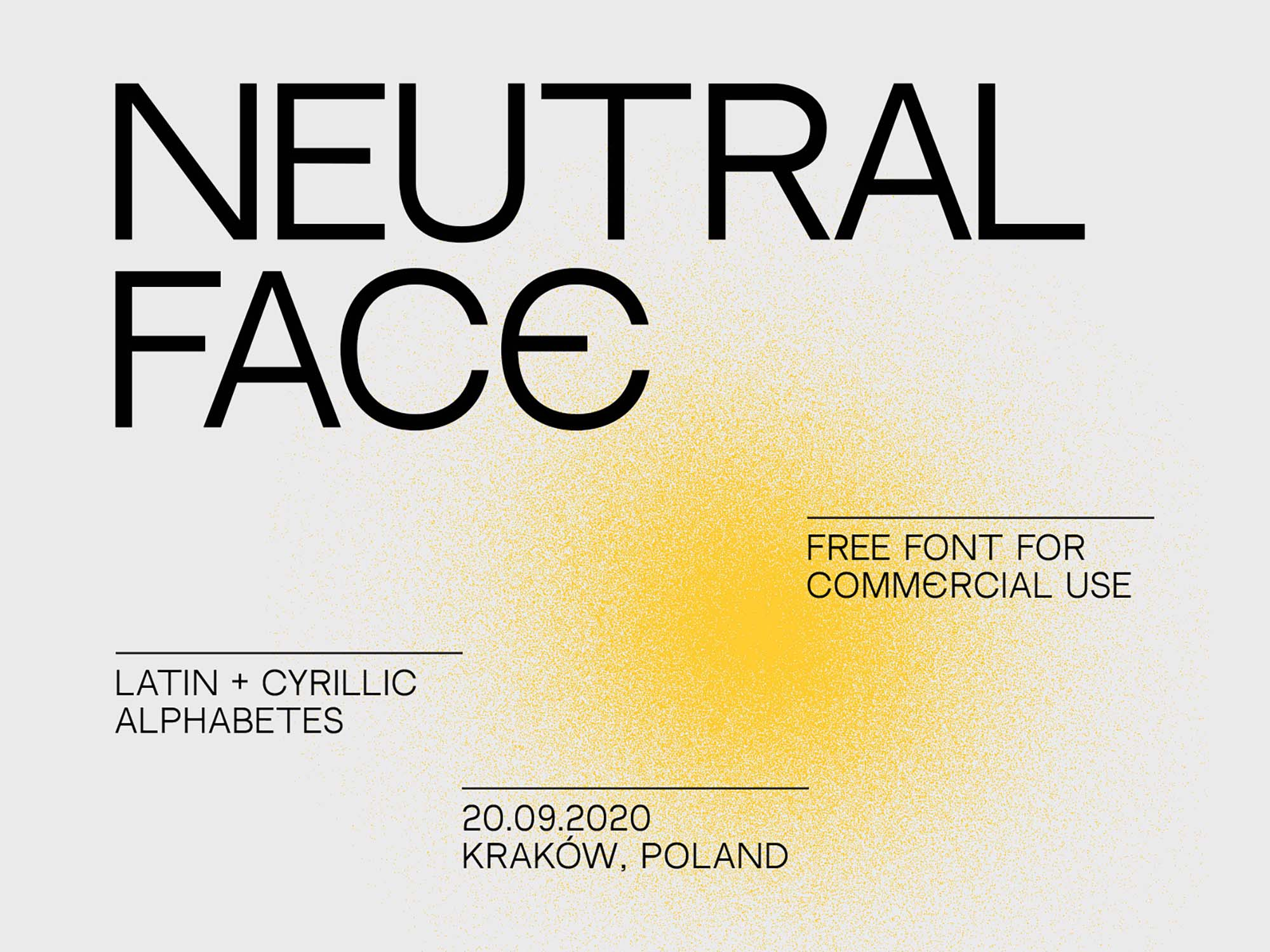 Free Neutral Face Font