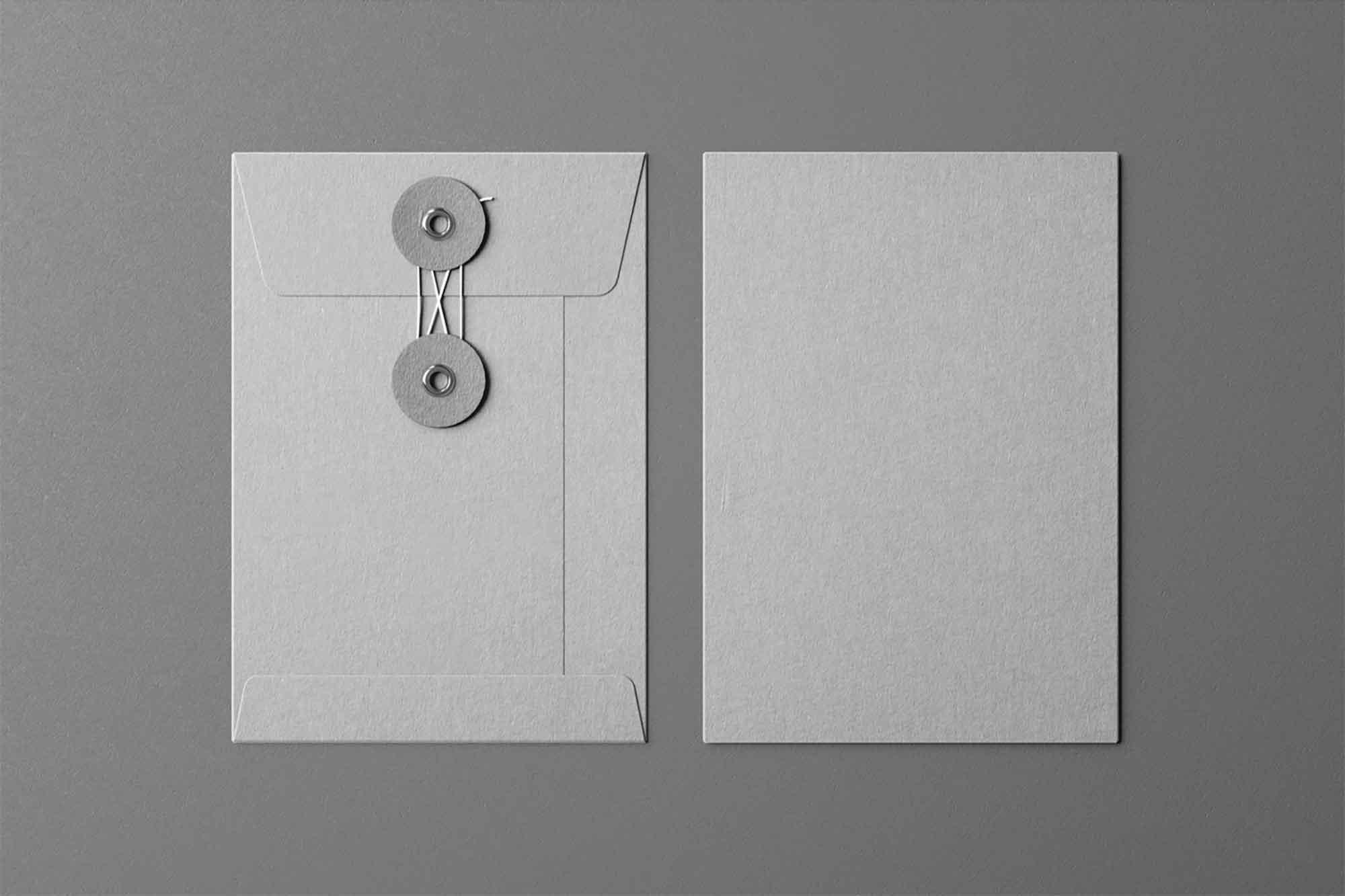 Front Envelope With String Mockup 2