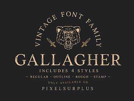 Gallagher Serif Font