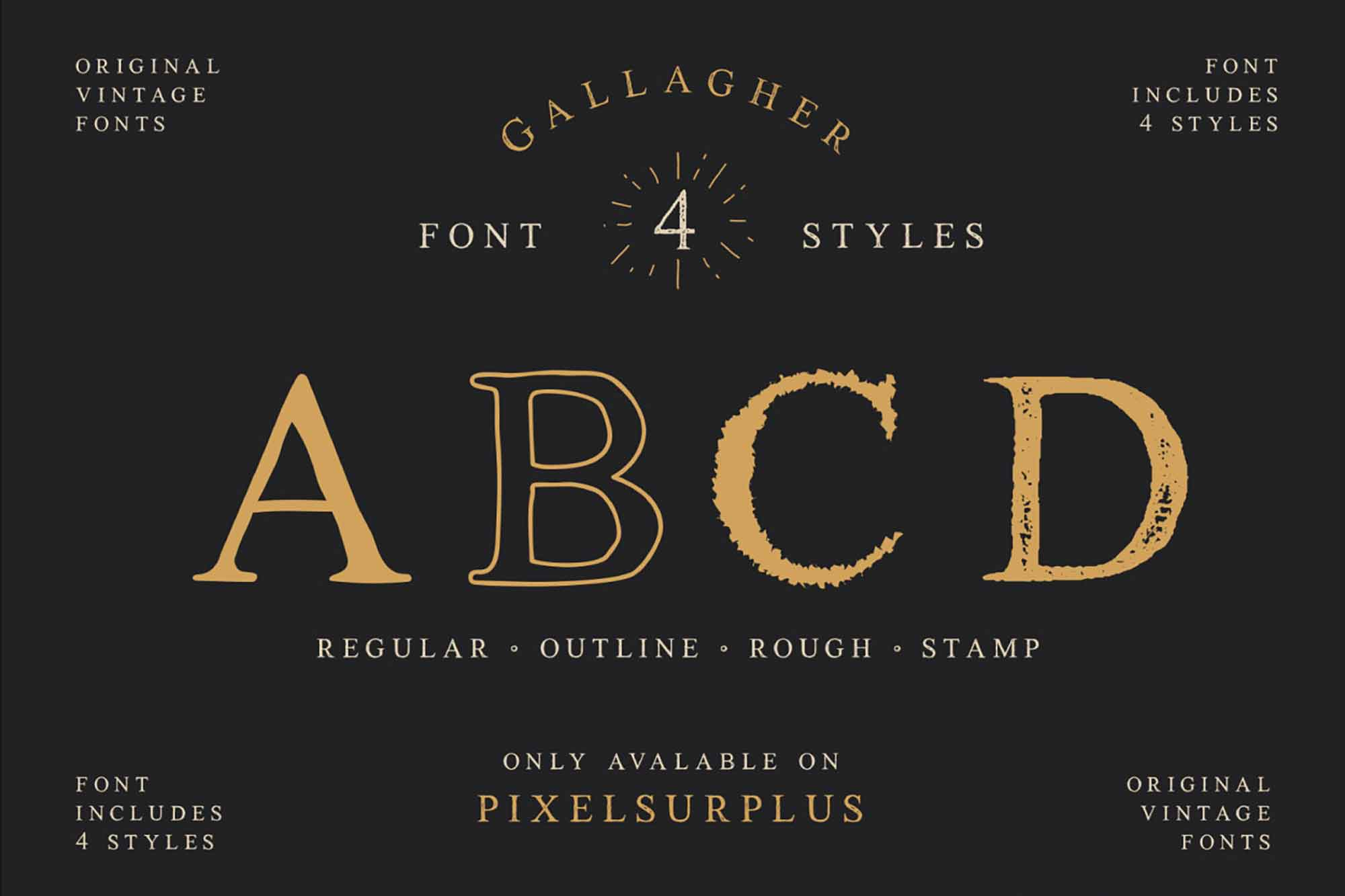 Gallagher Serif Font 4