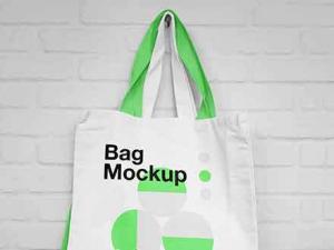 Free Hanging Canvas Bag Mockup (PSD)