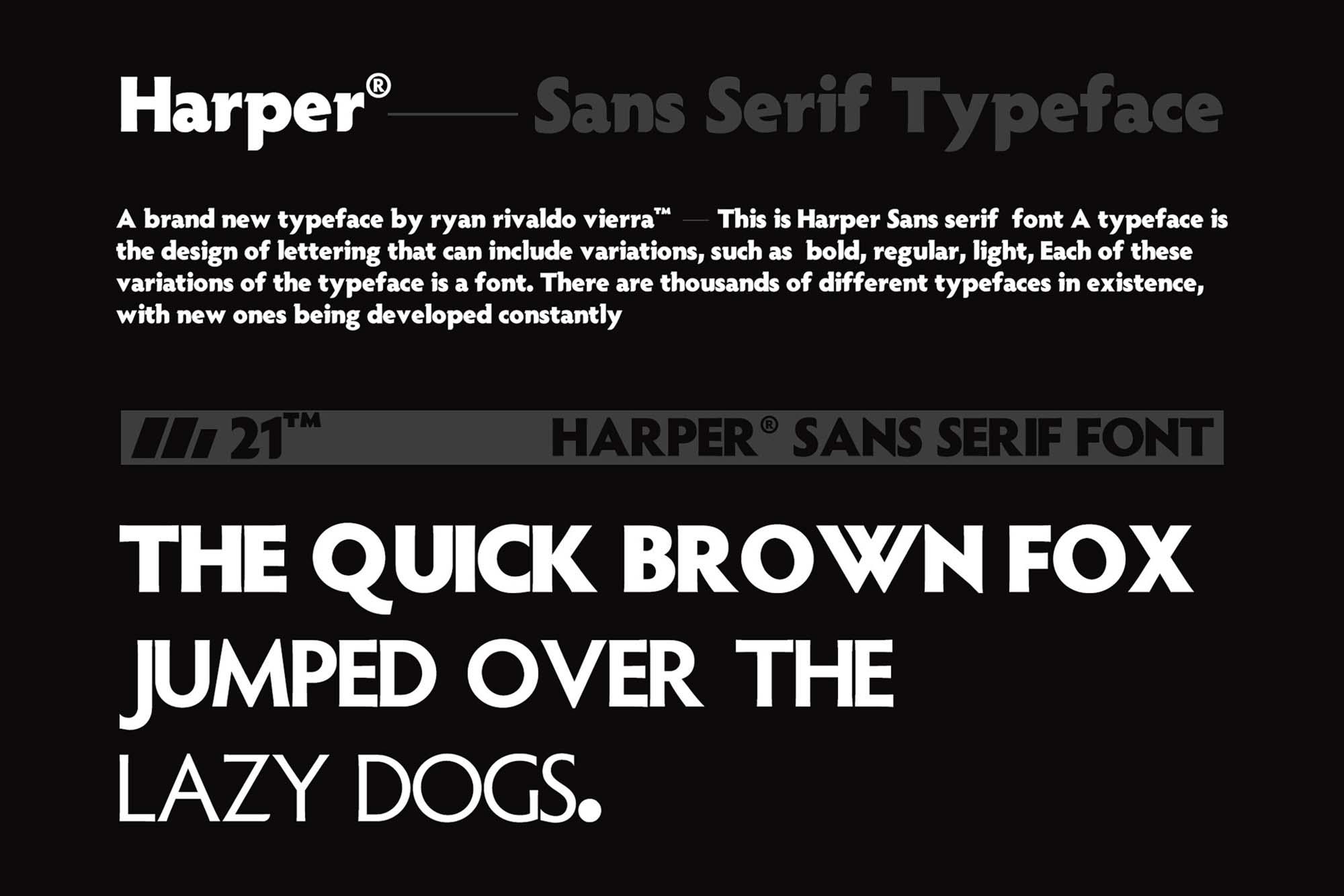 Harper Font 2