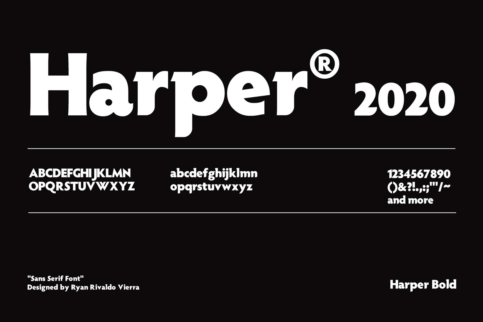 Harper Font 4