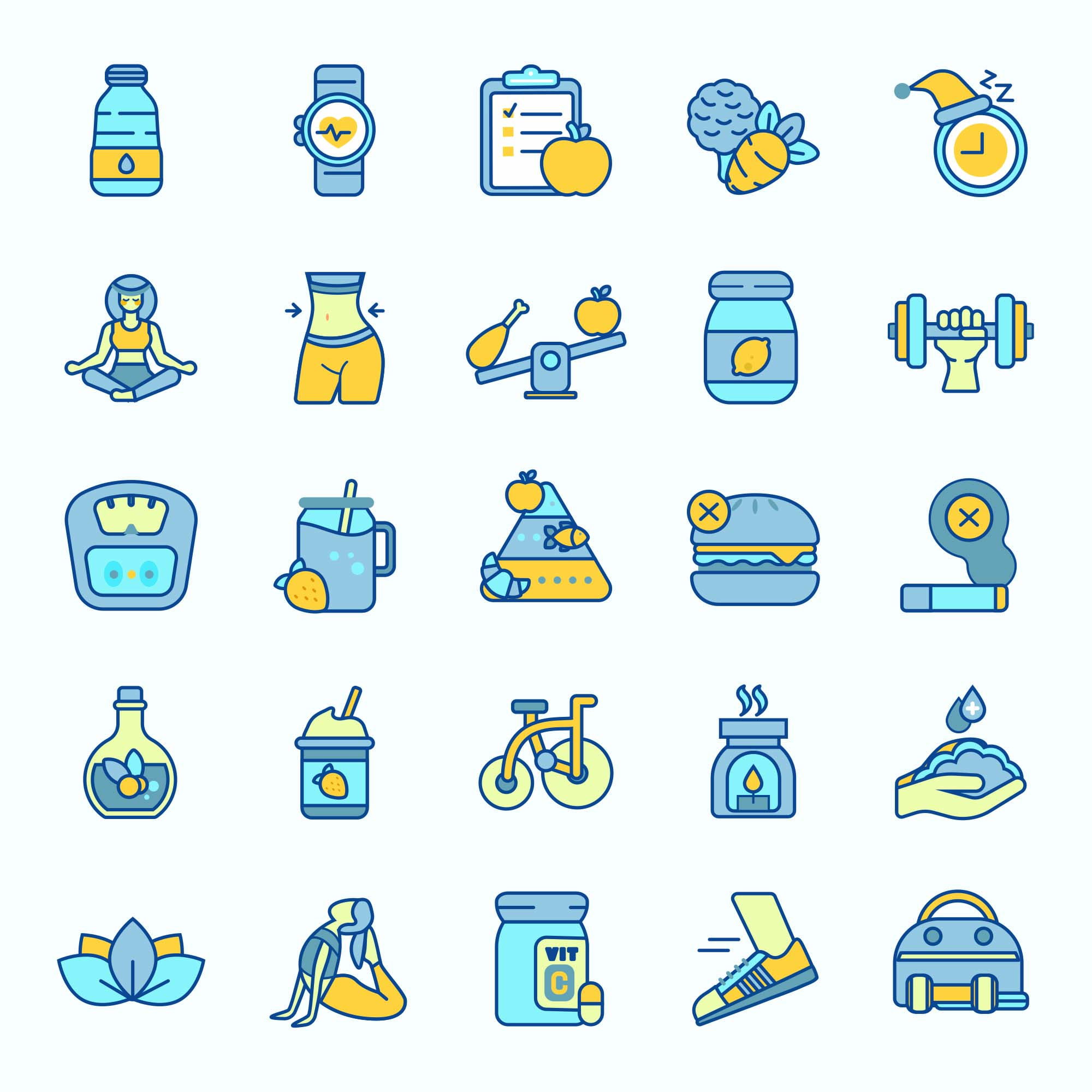 Healthy Life Vector Icons