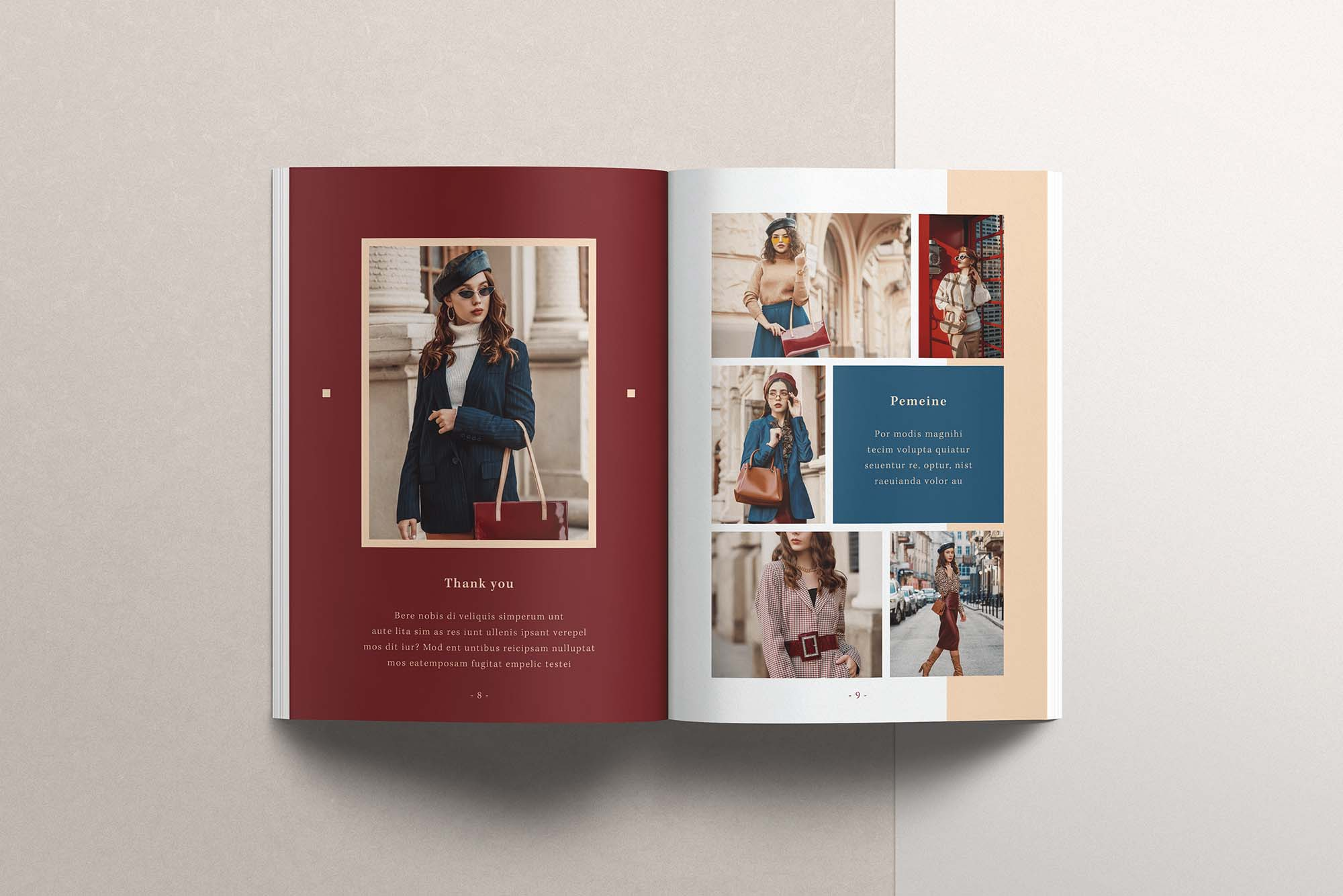 InDesign Magazine Template 4