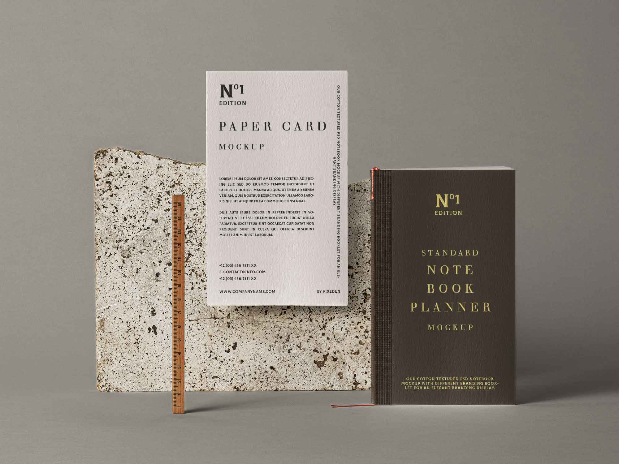 Notebook Stationery Mockup