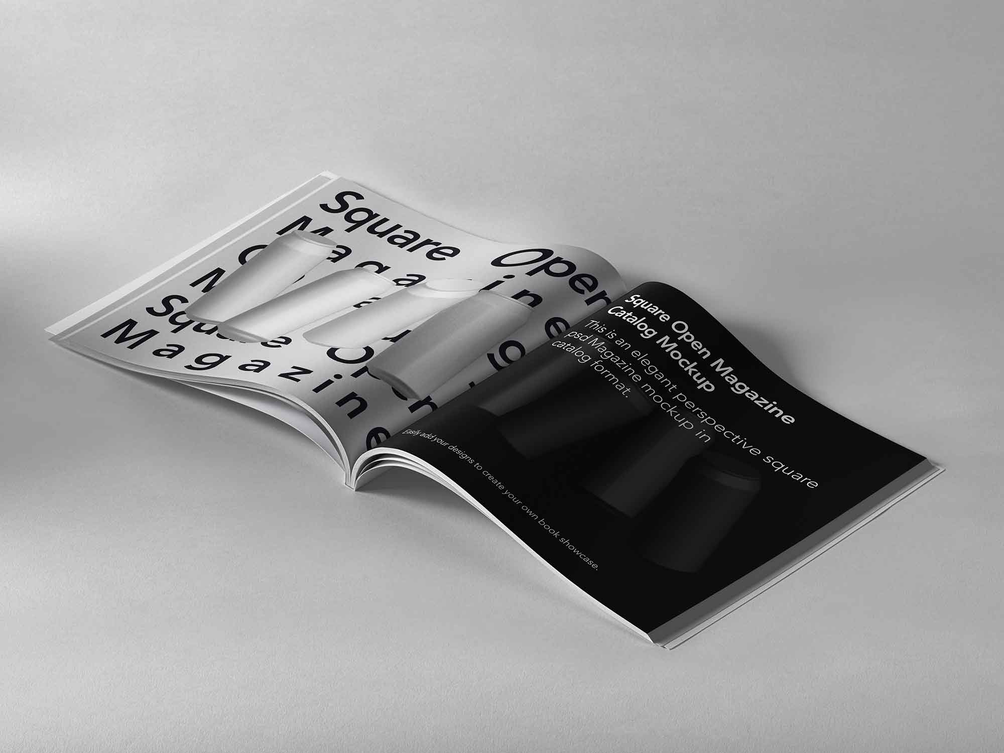 Open Square Magazine Mockup