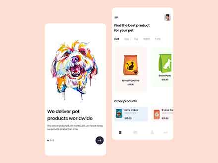 Pets Online Shop App Template