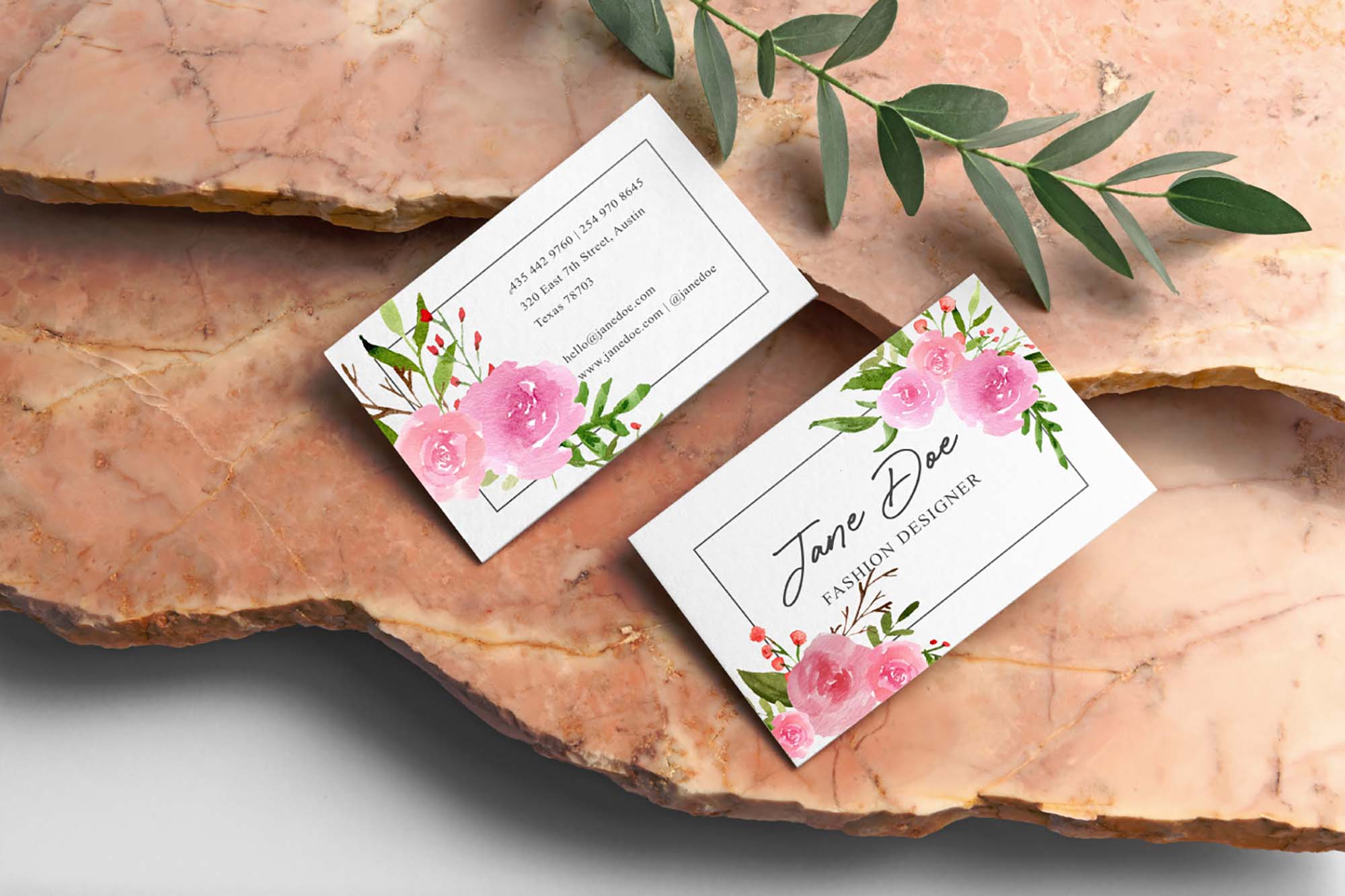 Pink Blush Watercolor Floral Graphics 2
