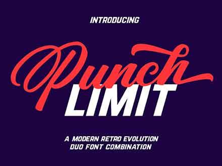 Punch Limit Script Font