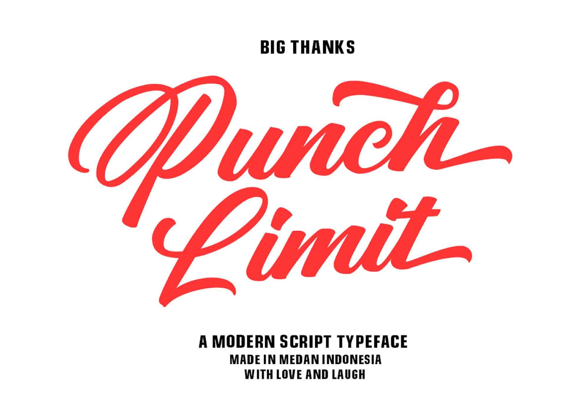 Punch Limit Script Font 7