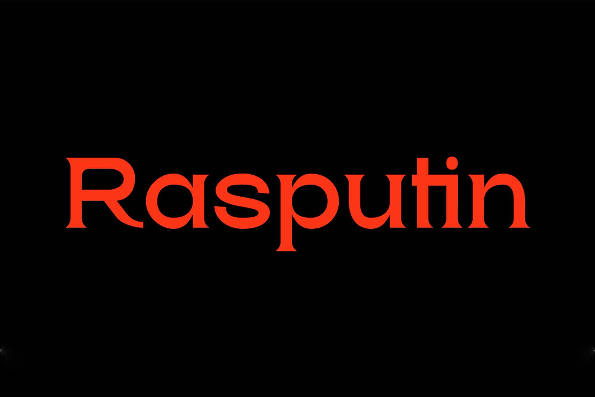 Rasputin Serif Font